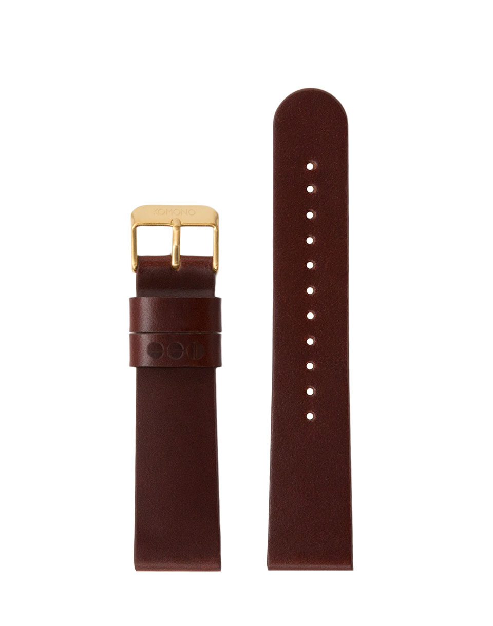 Hodinky Komono Winston / Walther Strap 20 Chestnut Gold