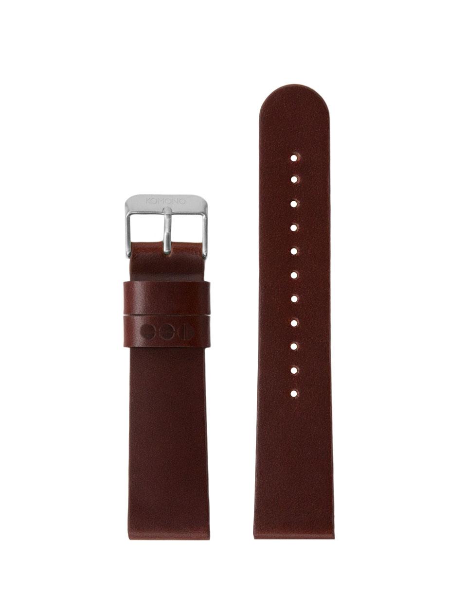 Hodinky Komono Winston / Walther Strap 20 Chestnut Silver
