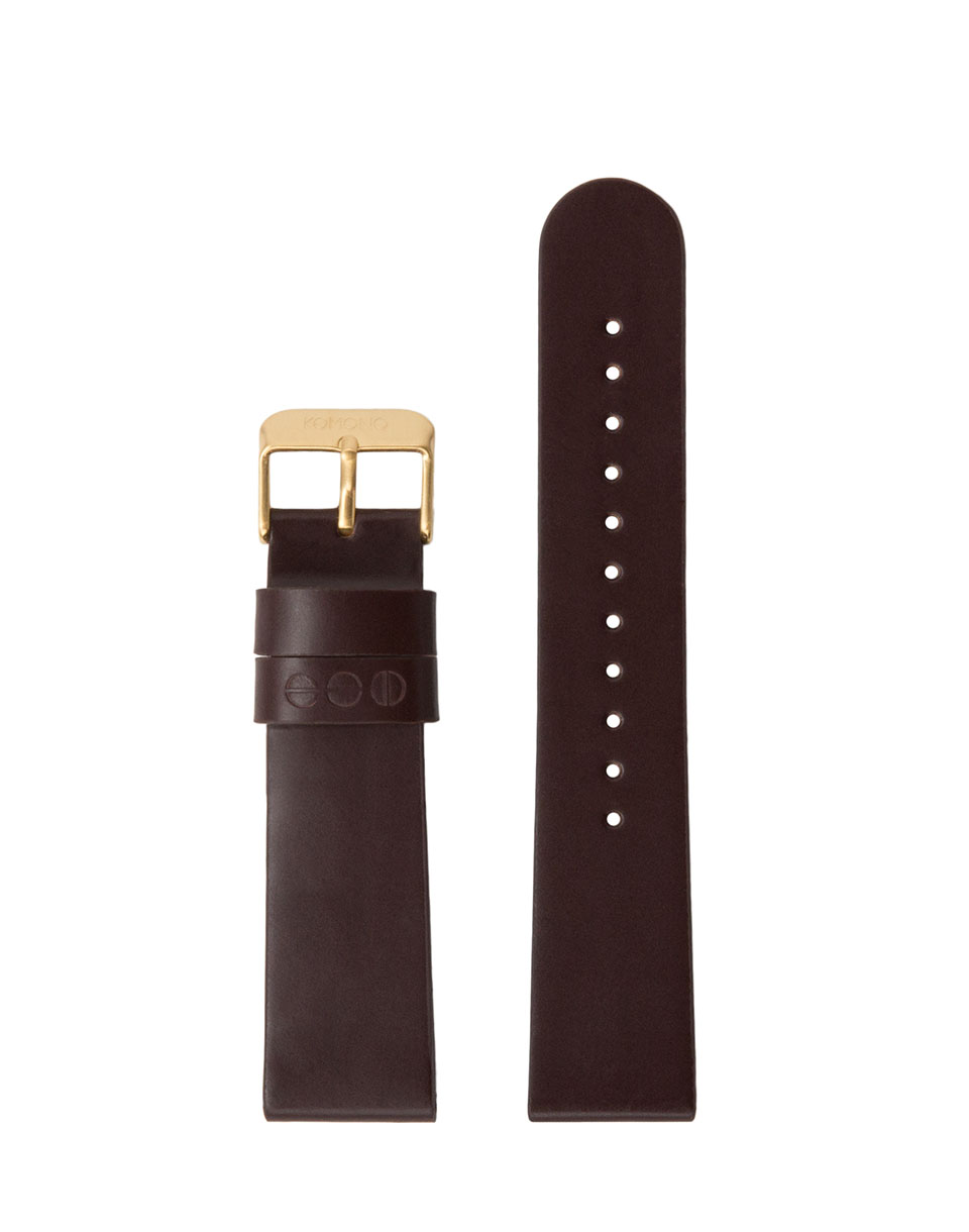 Hodinky Komono Winston / Walther Strap 20 Burgundy Gold