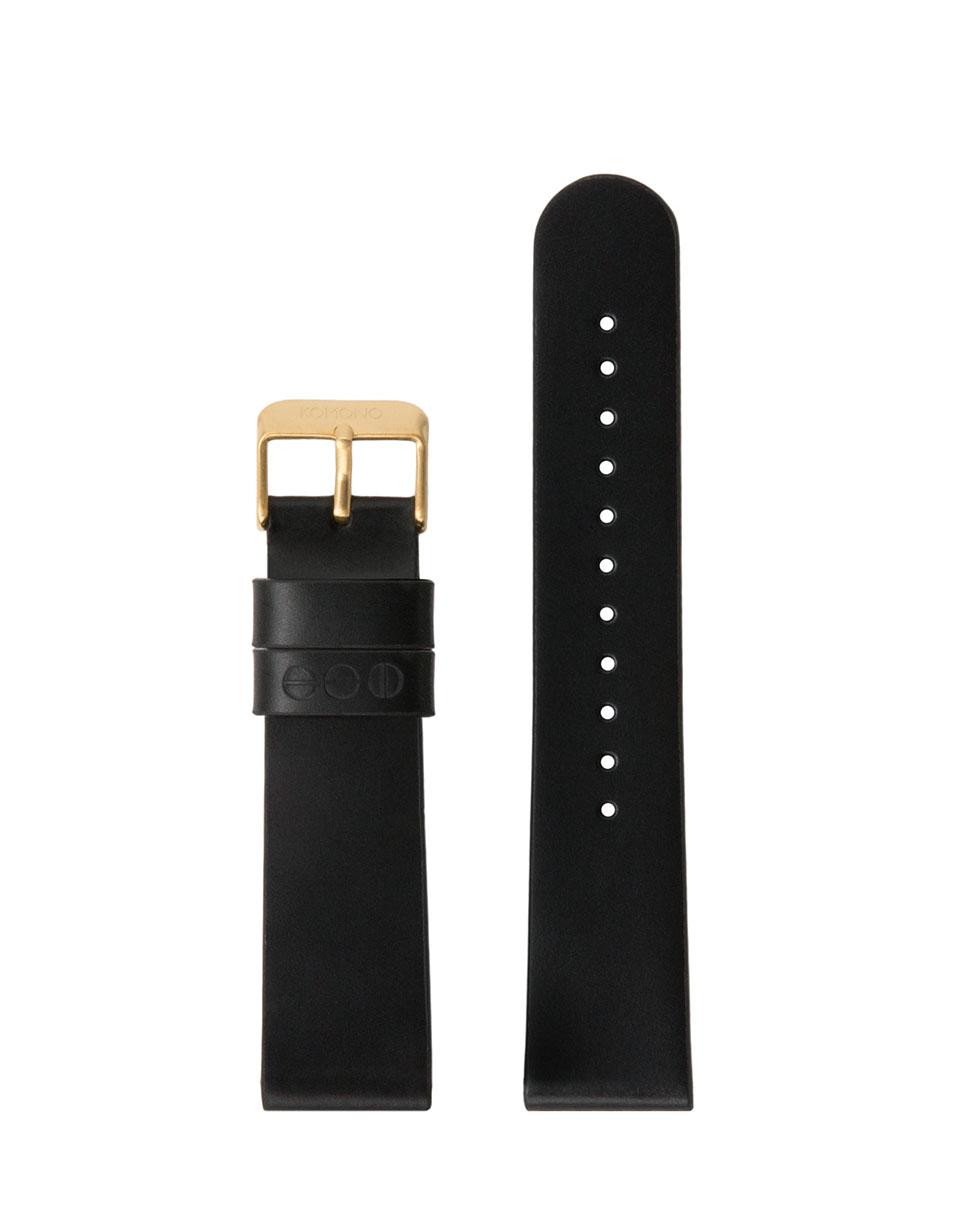 Hodinky Komono Winston / Walther Strap 20 Black Gold