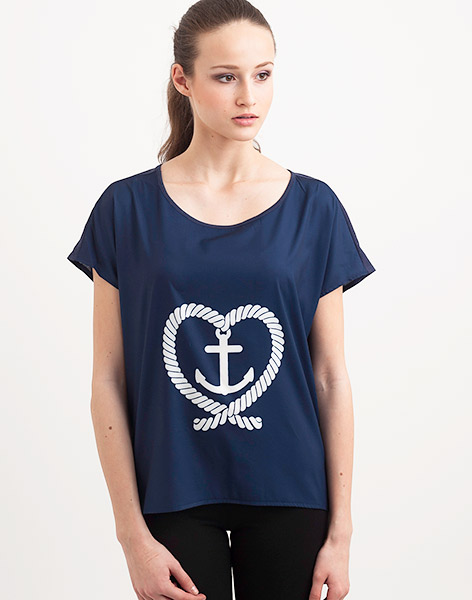 Top Kling Anchor and Heart NVY m