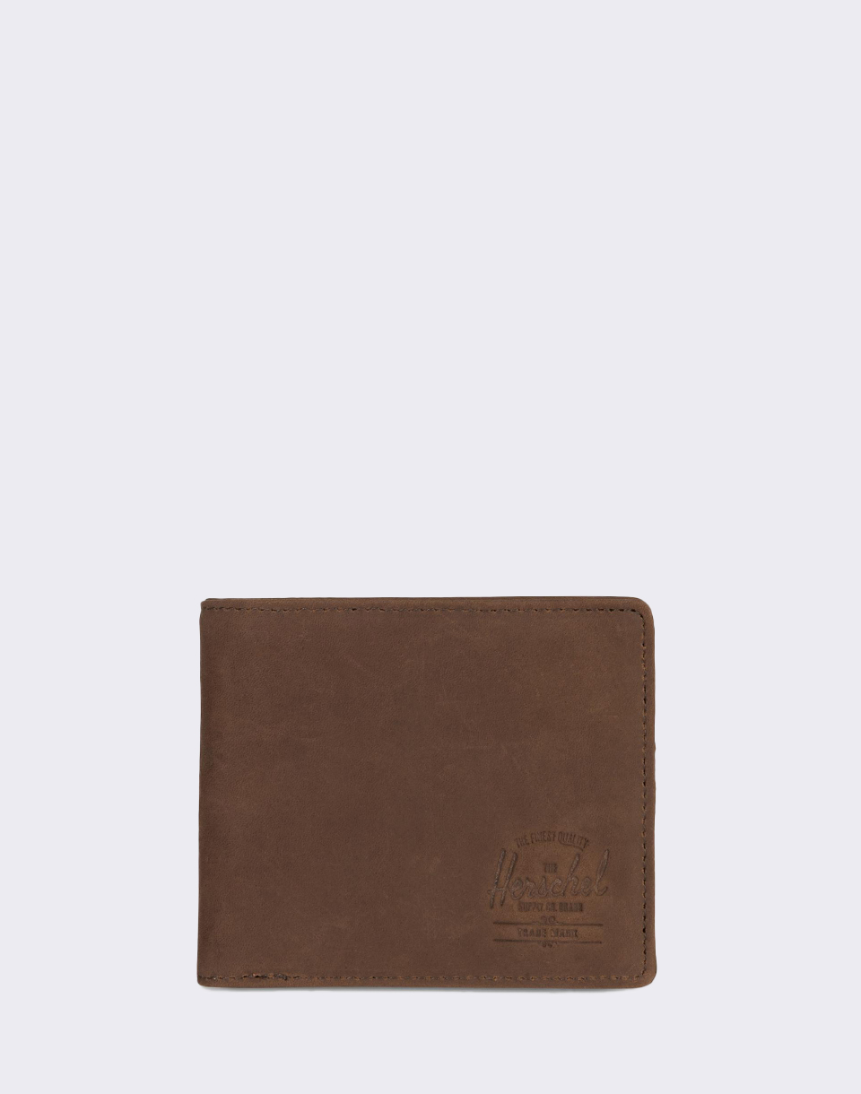 Herschel Supply Roy   Coin XL Leather RFID Nubuck Brown