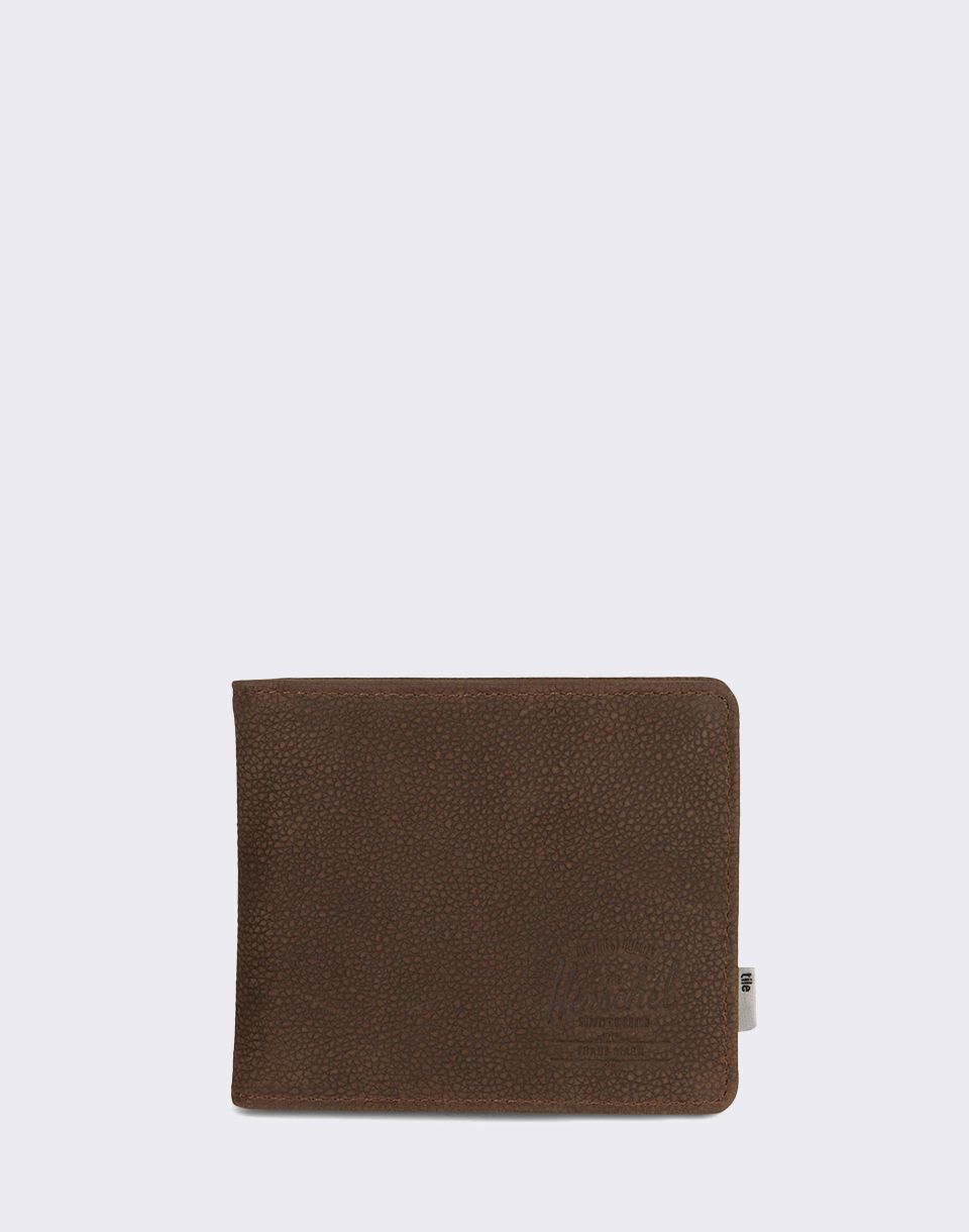 Herschel Supply Roy Coin XL   Tile Brown Pebbled Nubuck