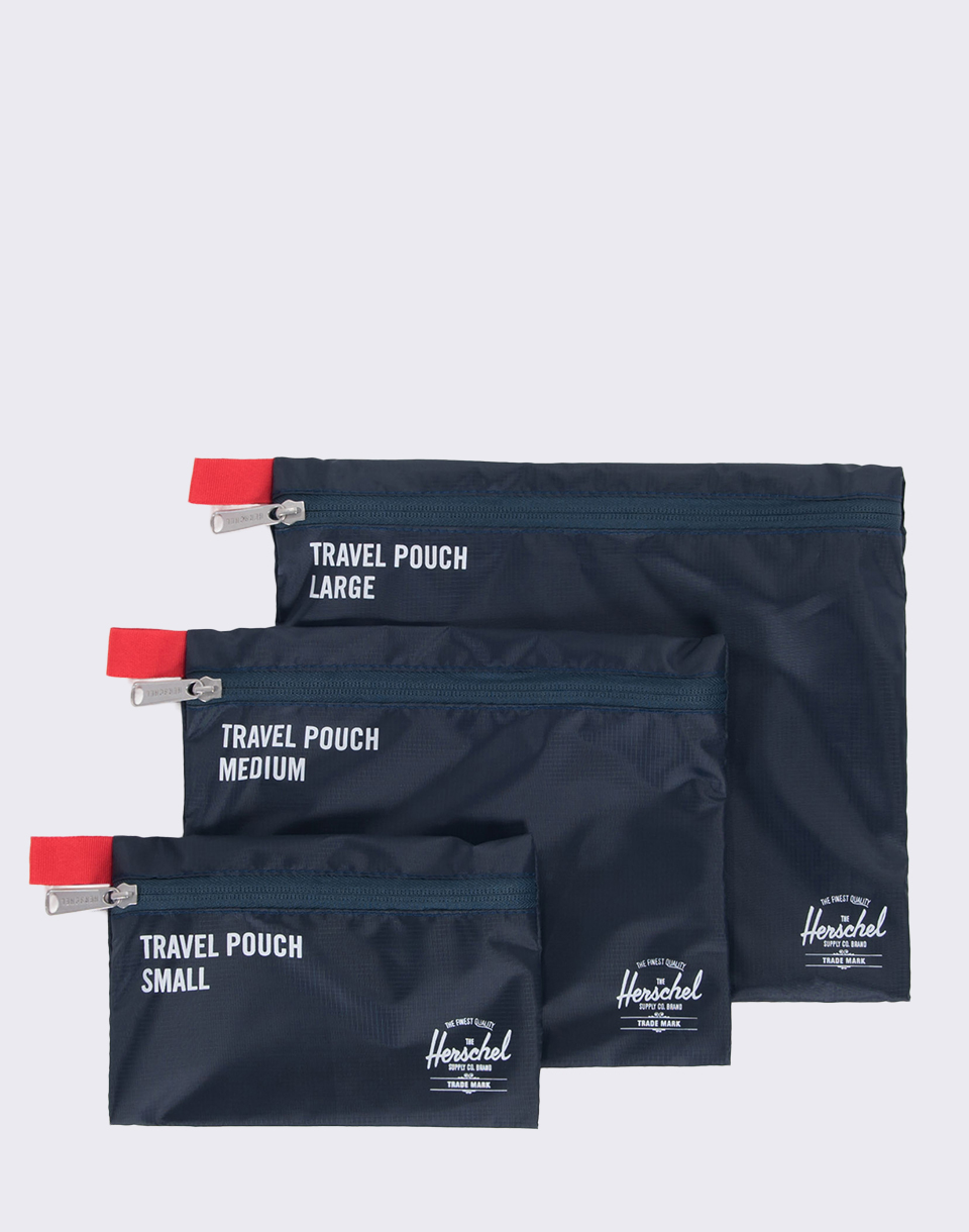 Herschel Supply Travel Pouches Navy Red