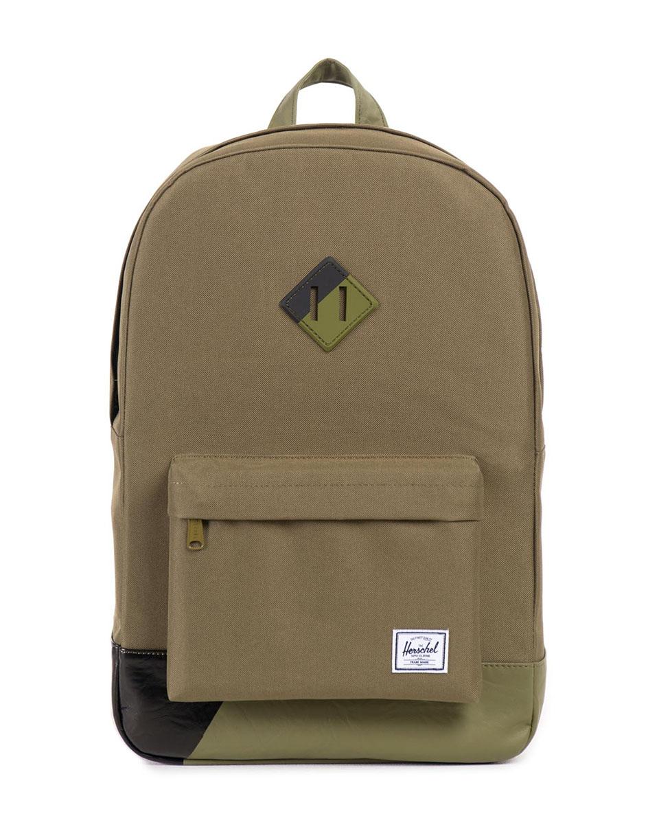 Batoh Herschel Supply Heritage Army/Army PU/Black Print