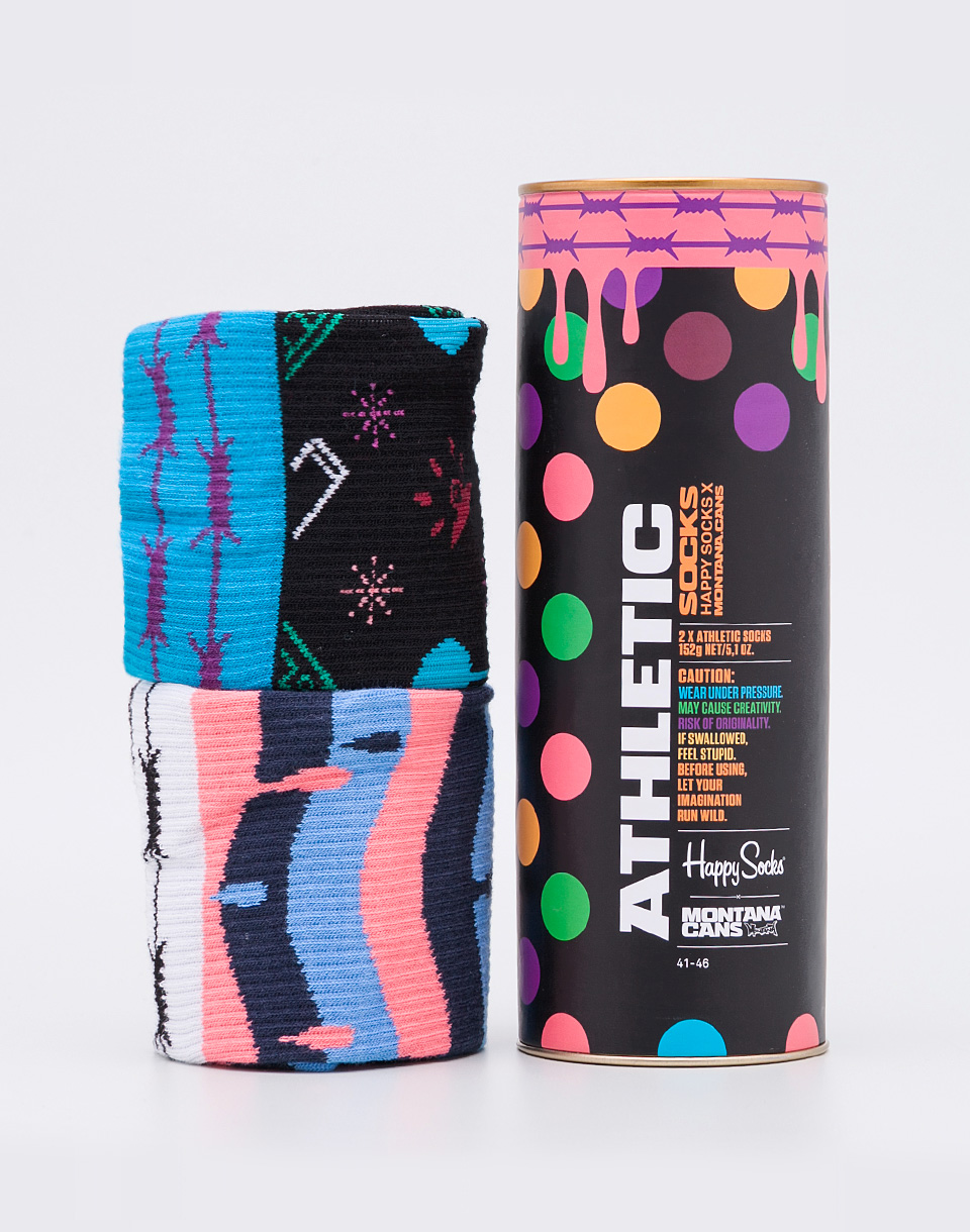 Happy Socks Montana Cans Athletic XATM02 9000 36 40