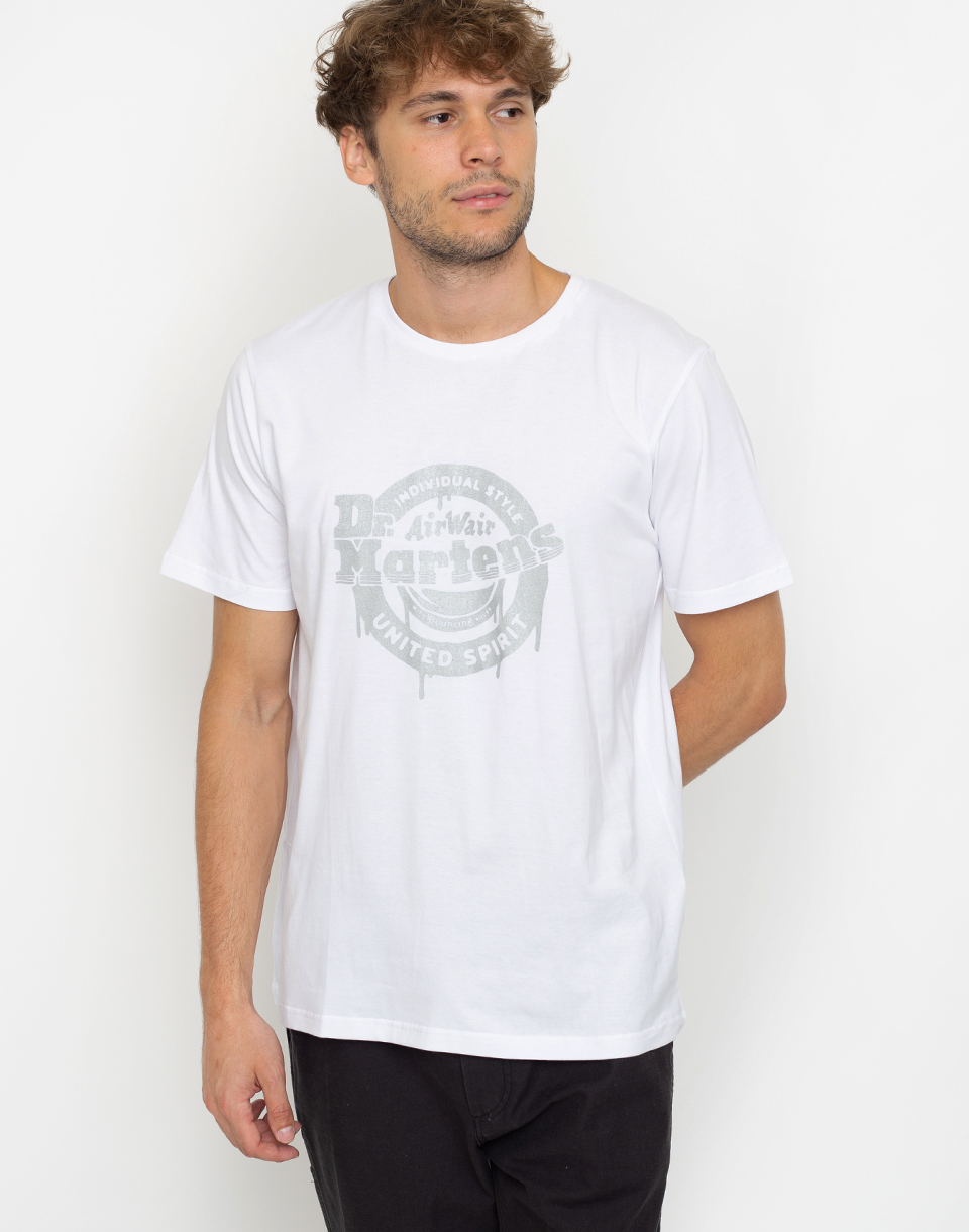 Dr  Martens United Spirit Ink Drop Tee White L
