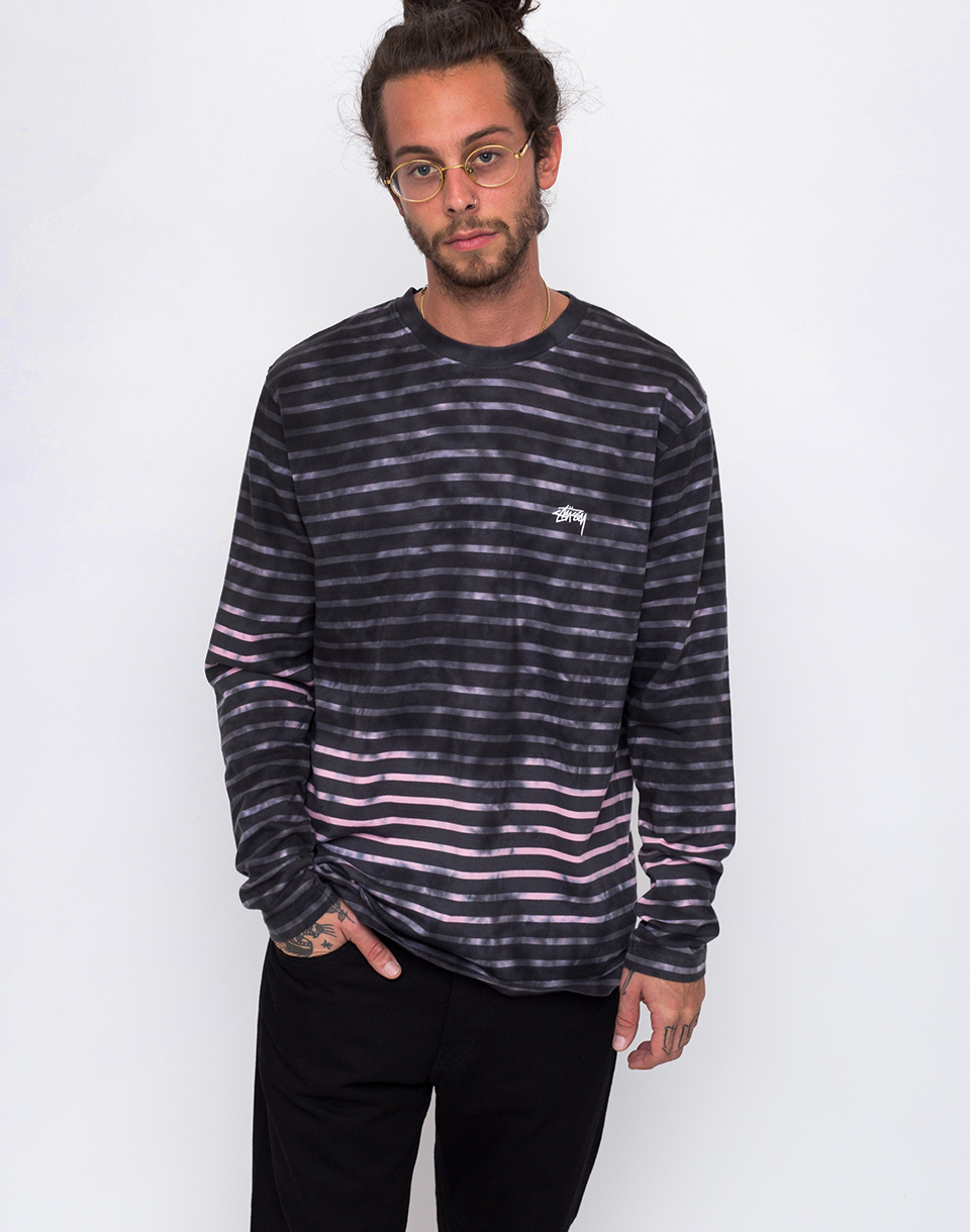Stussy Bleach Stripe charcoal S