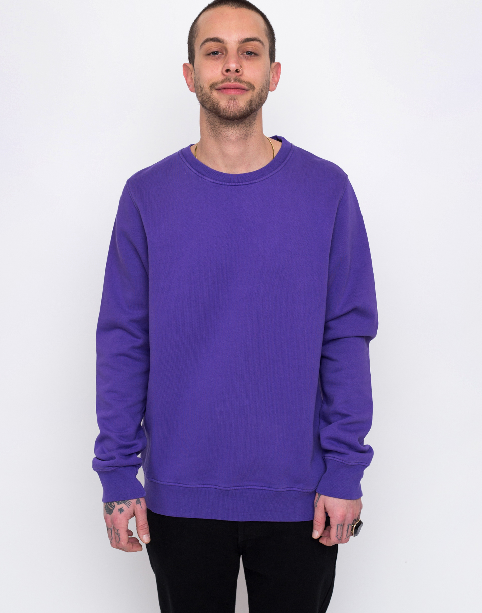 Colorful Standard Clasic Organic Crew Ultra Violet L