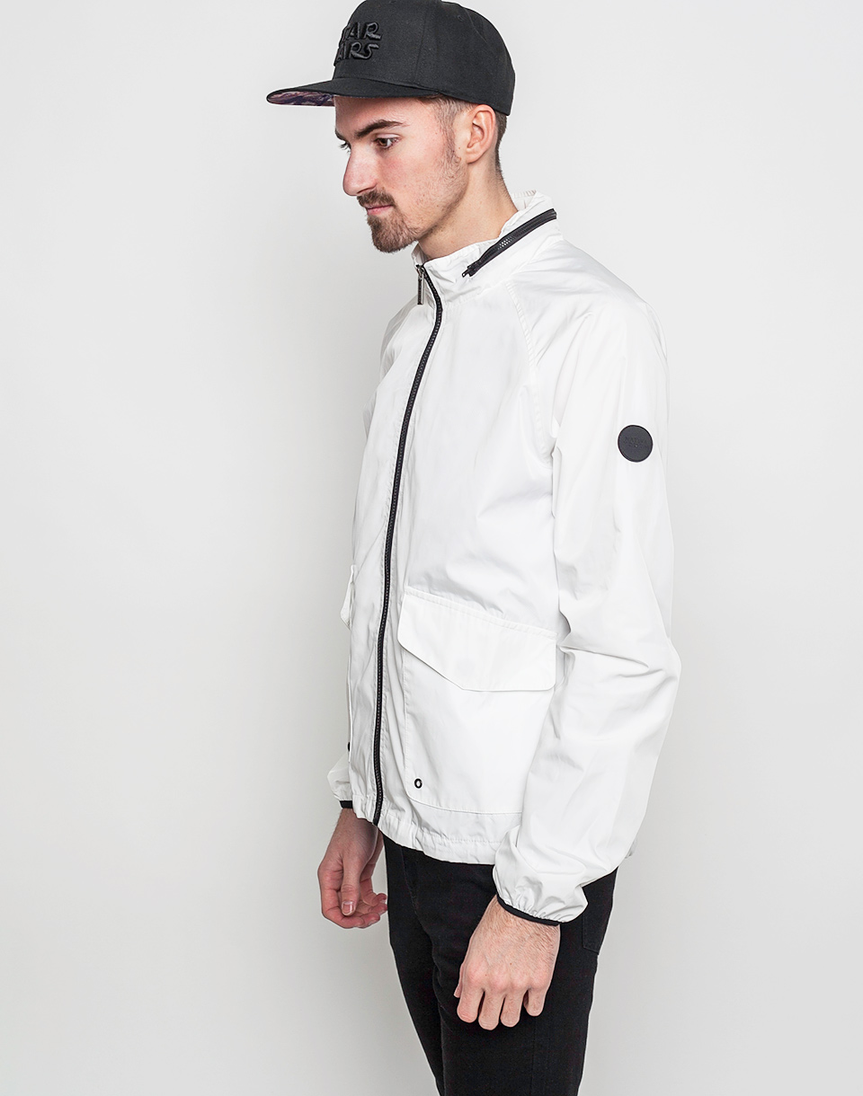 Native Youth Tech Fabric Harrington White L