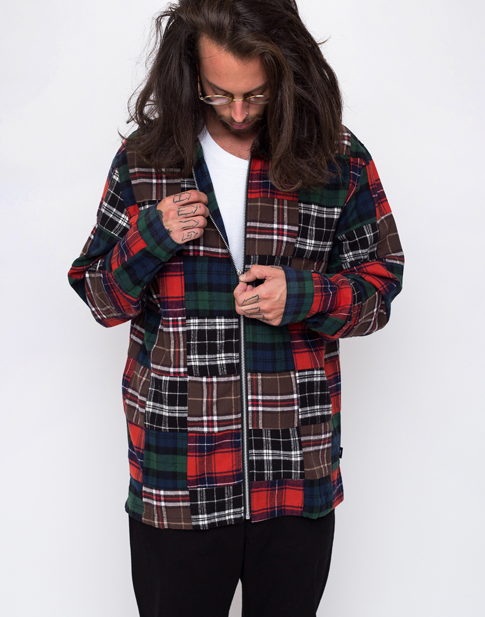 Stussy Patchwork Zip Up plaid L