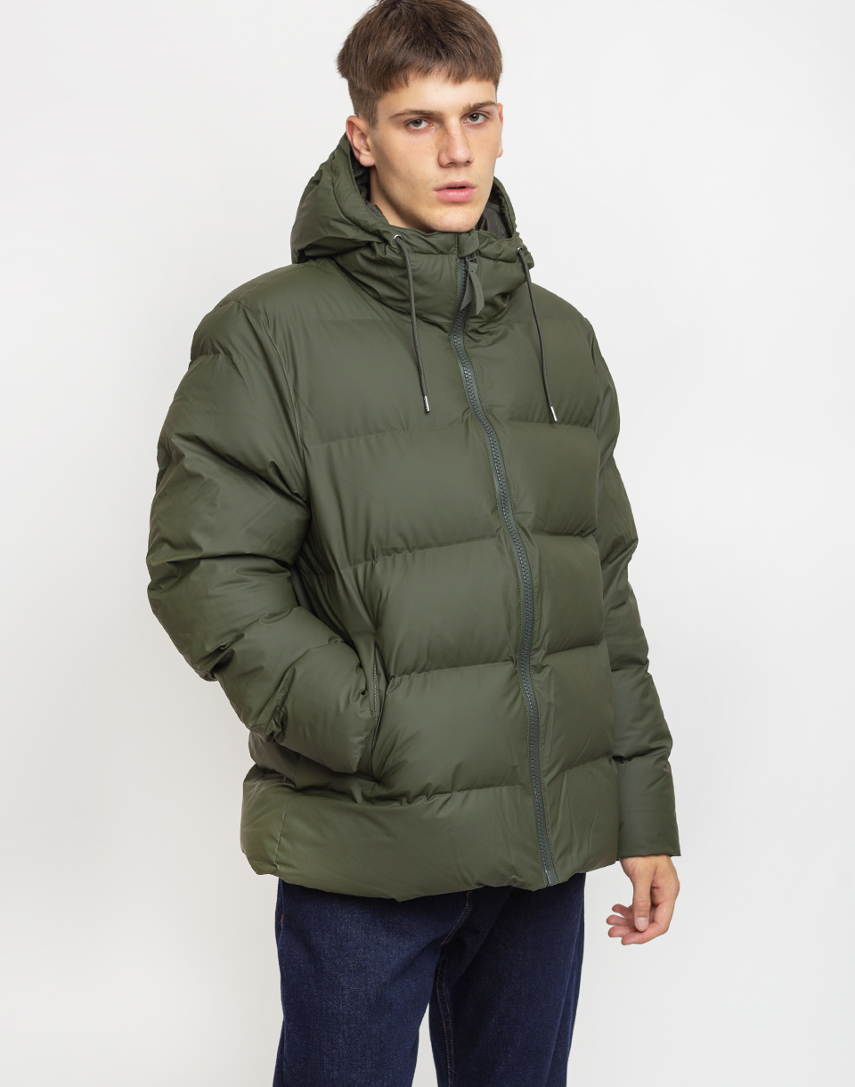 Rains Puffer Jacket 03 Green L XL