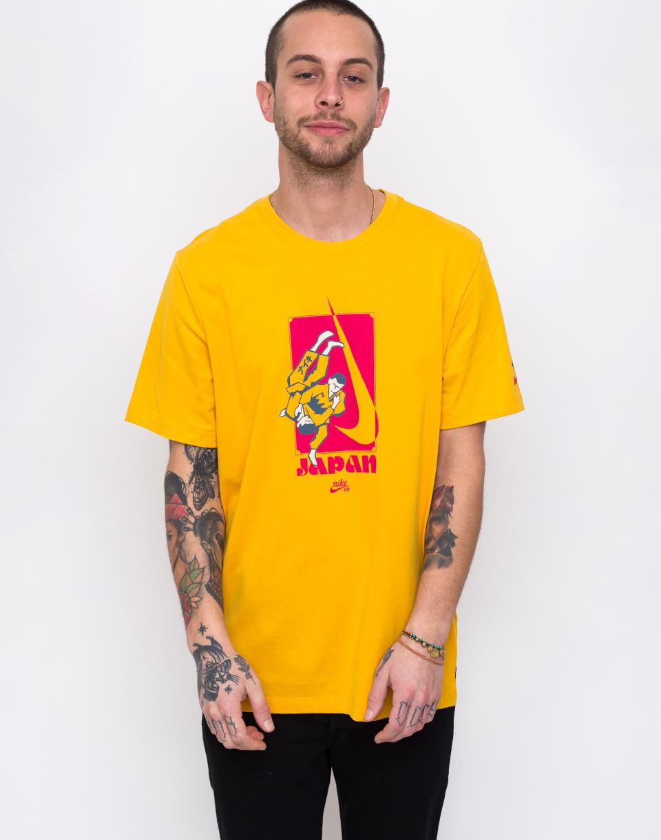Nike SB Dry Tee Karate Yellow Ochre/Rush Pink S