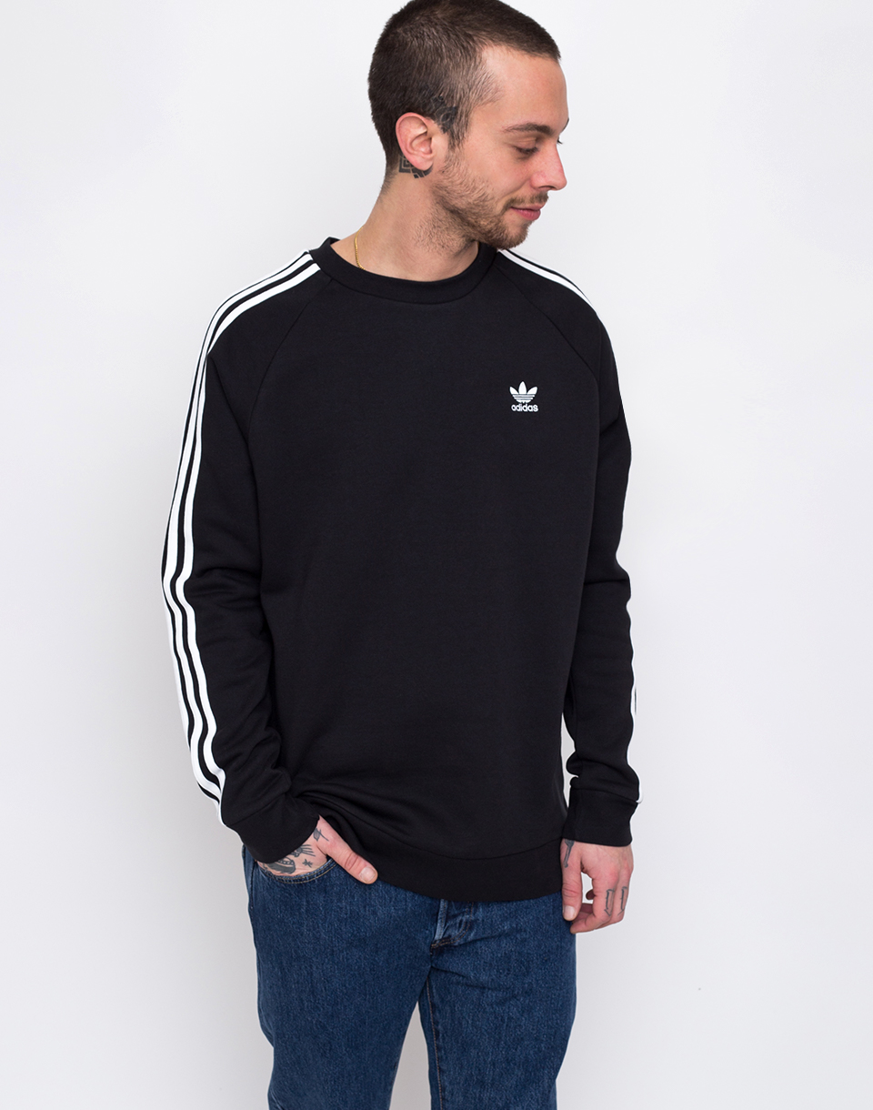 adidas Originals 3 Stripes Crew Black L