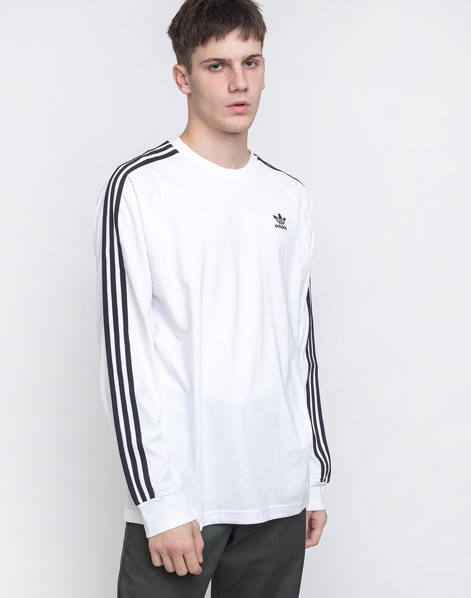 adidas Originals 3 Stripes LS Tee WHITE XL
