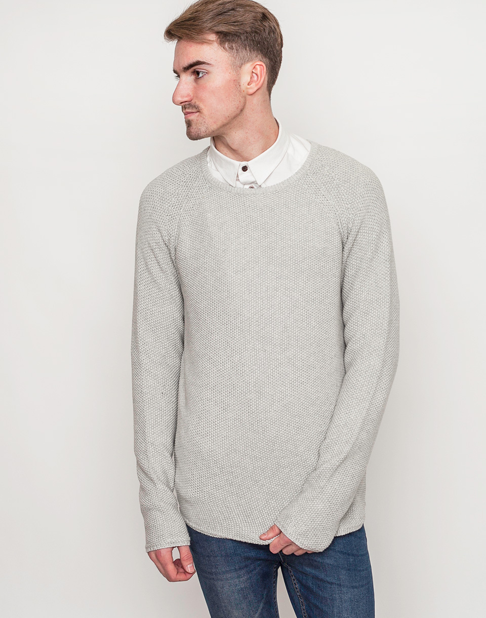 RVLT 6261 KNIT PATTERN lightgrey M