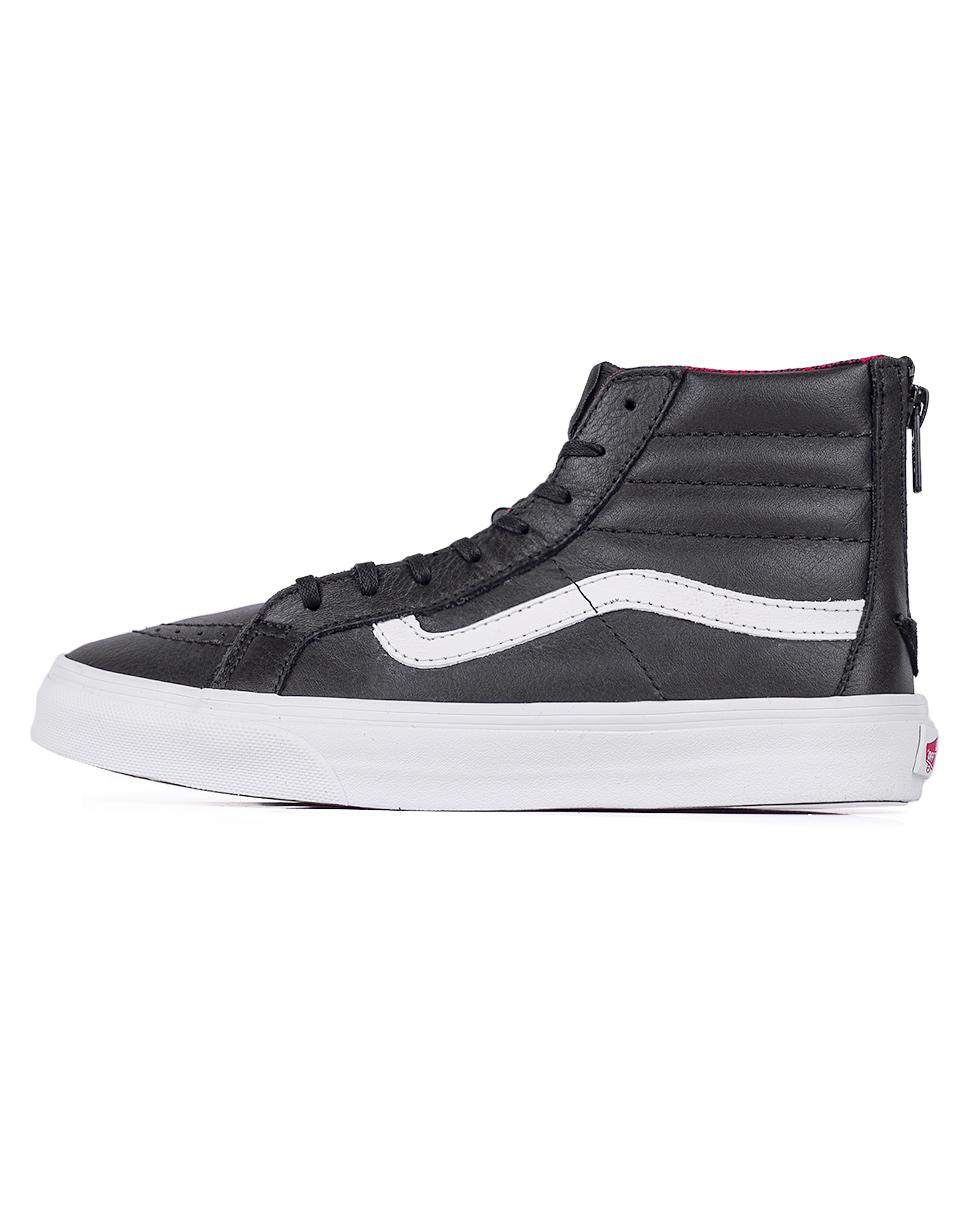 Sneakers - tenisky Vans SK8-Hi Slim Zip (Plaid Flannel) Black / True White 37 + doprava zdarma