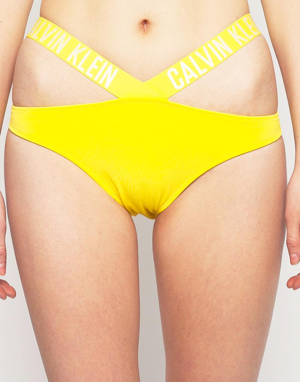 Plavky Calvin Klein X Bikini Buttercup M