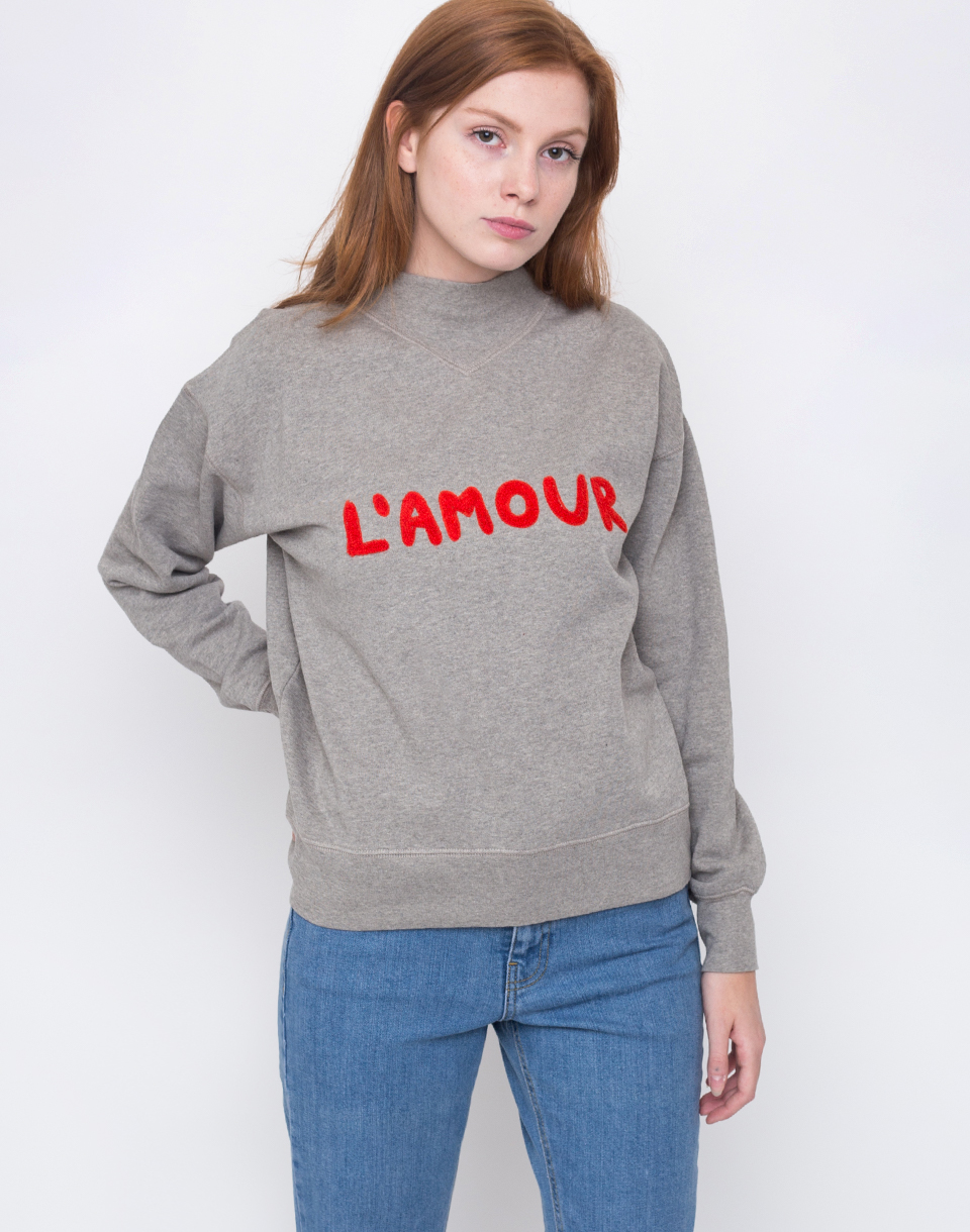 Thinking MU L´AMOUR EMBROIDERY Grey Melange L