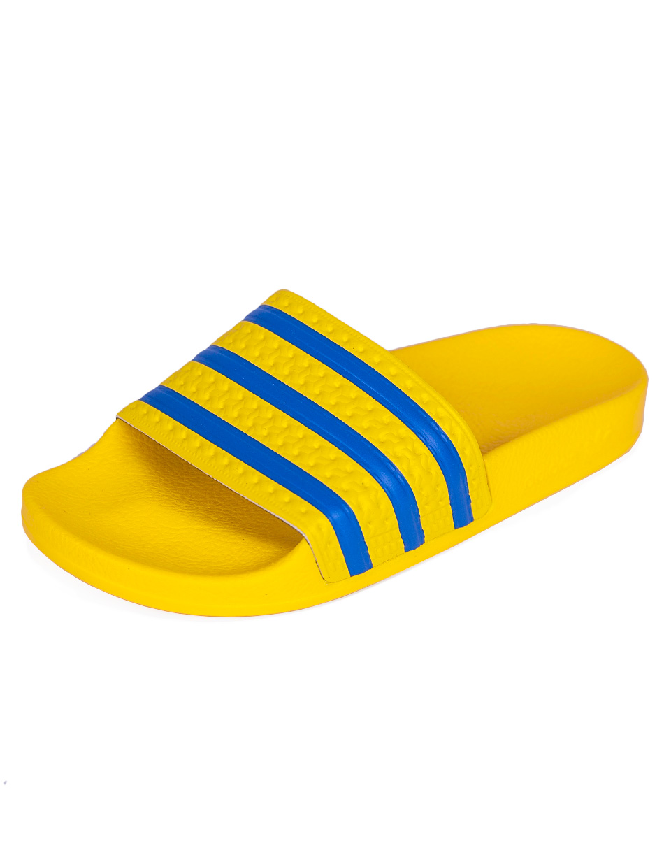 Pantofle Adidas Originals ADILETTE YELLOW/BLUBIR/CBLACK 38