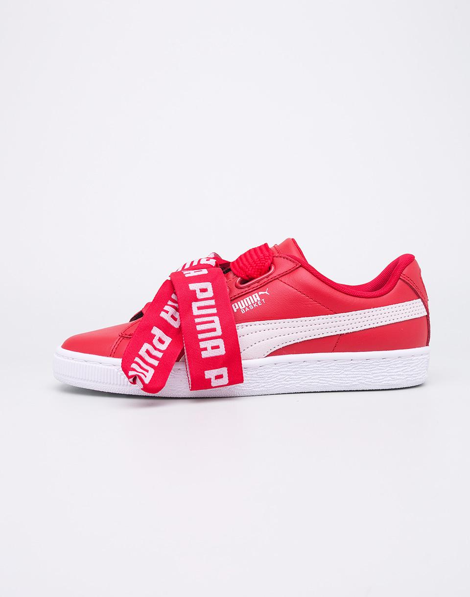 Sneakers - tenisky Puma Basket Heart DE Toreador-Puma White 41 + doprava zdarma + novinka