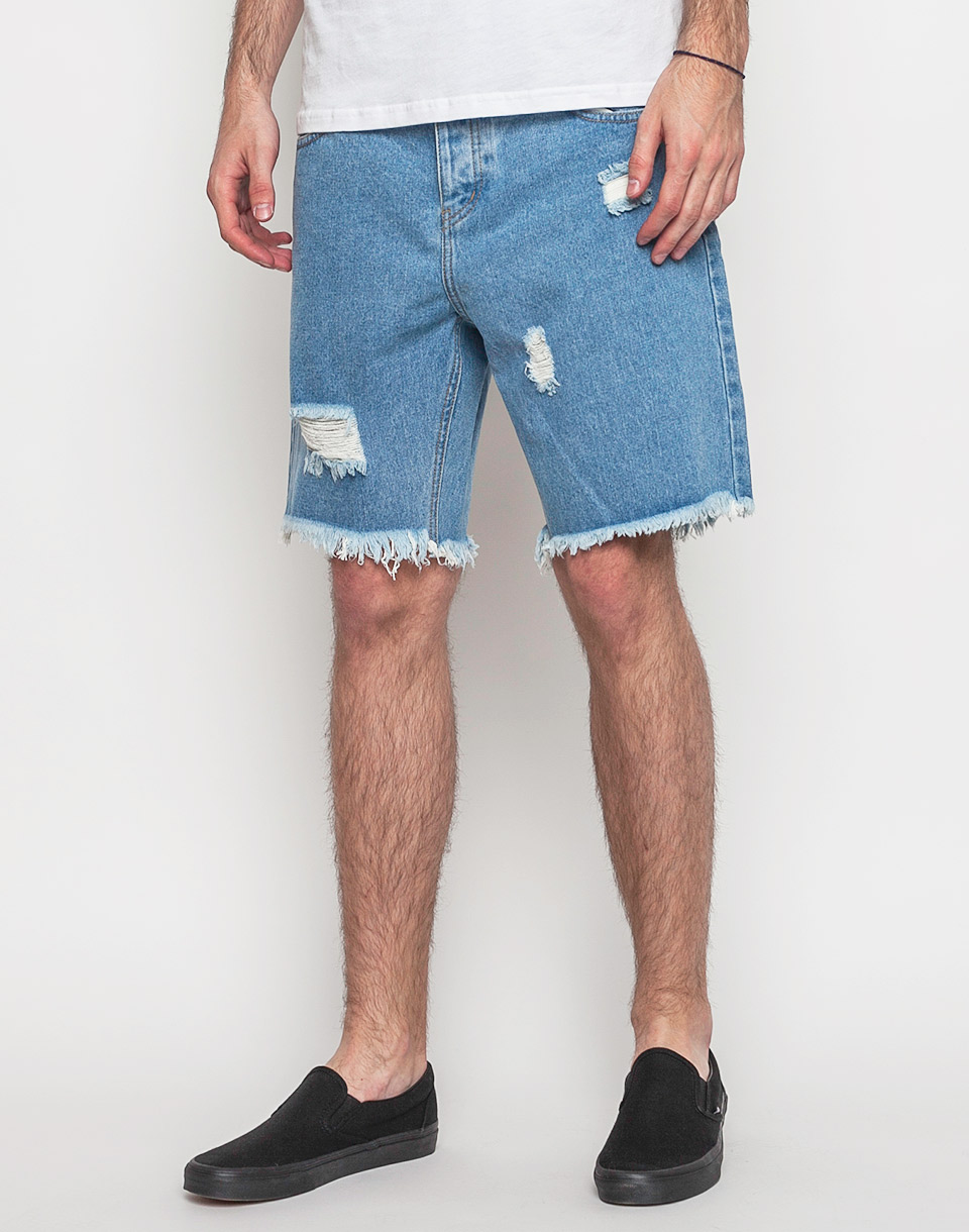 Afends Cut Off Denim Stone Blue 36