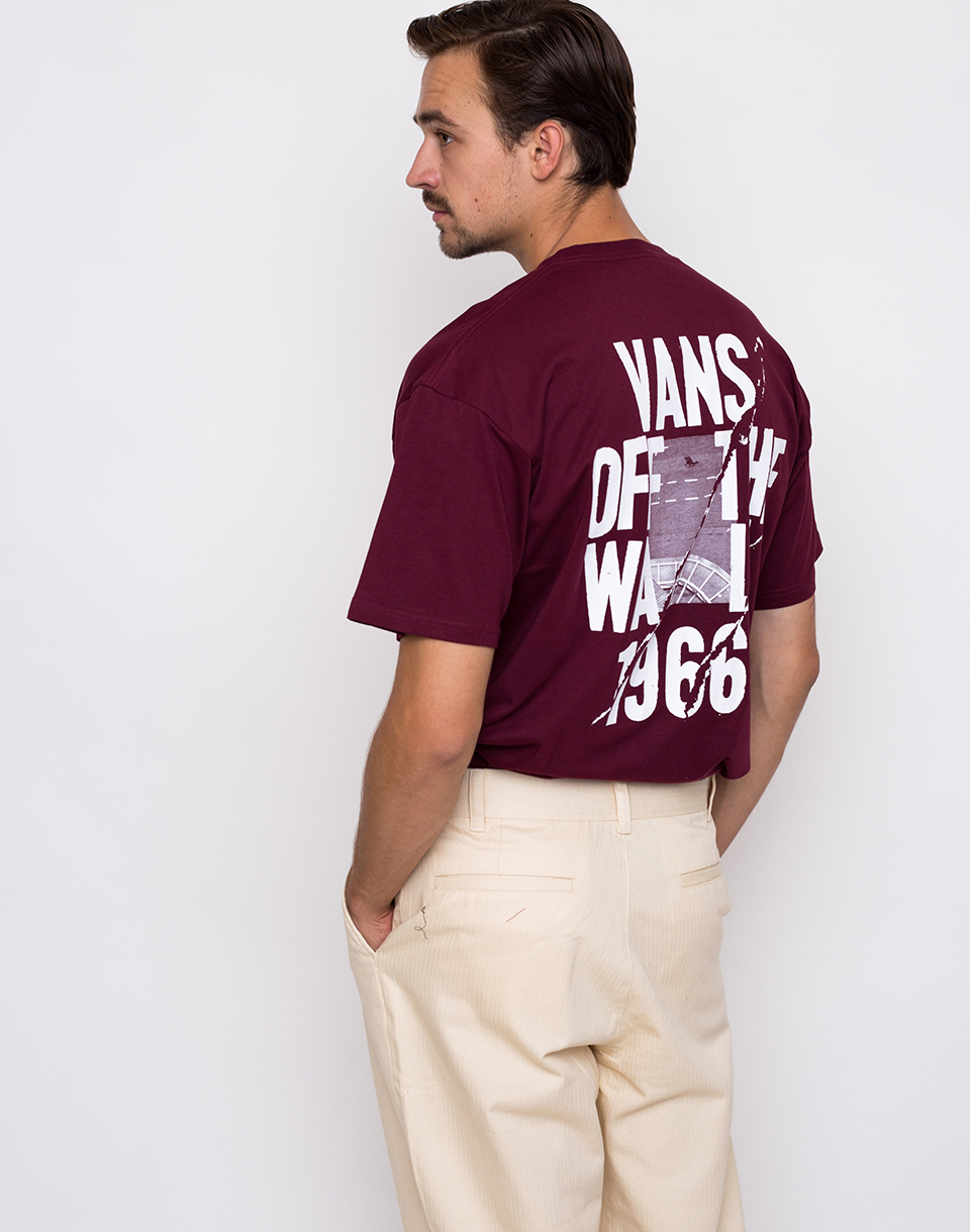 Vans Cracked Pavement Burgundy L