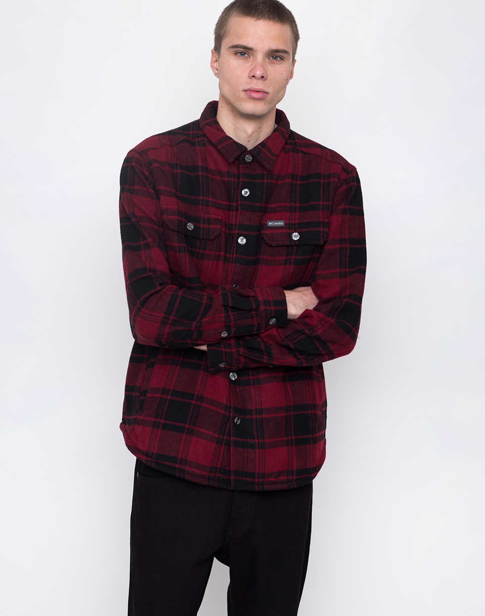 Columbia Windward Red Element Plaid S