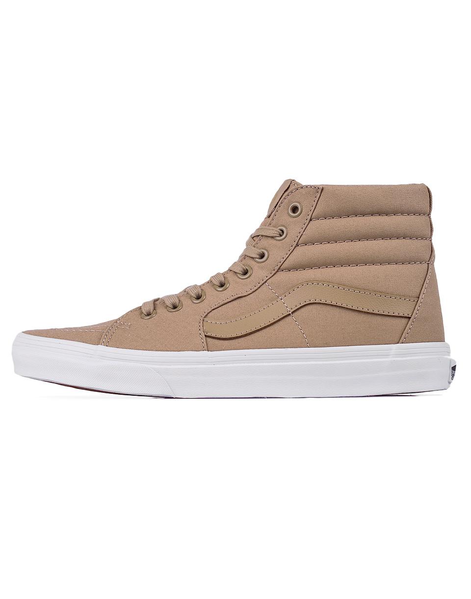 Sneakers - tenisky Vans SK8-Hi (Mono Canvas) Khaki / True White 43
