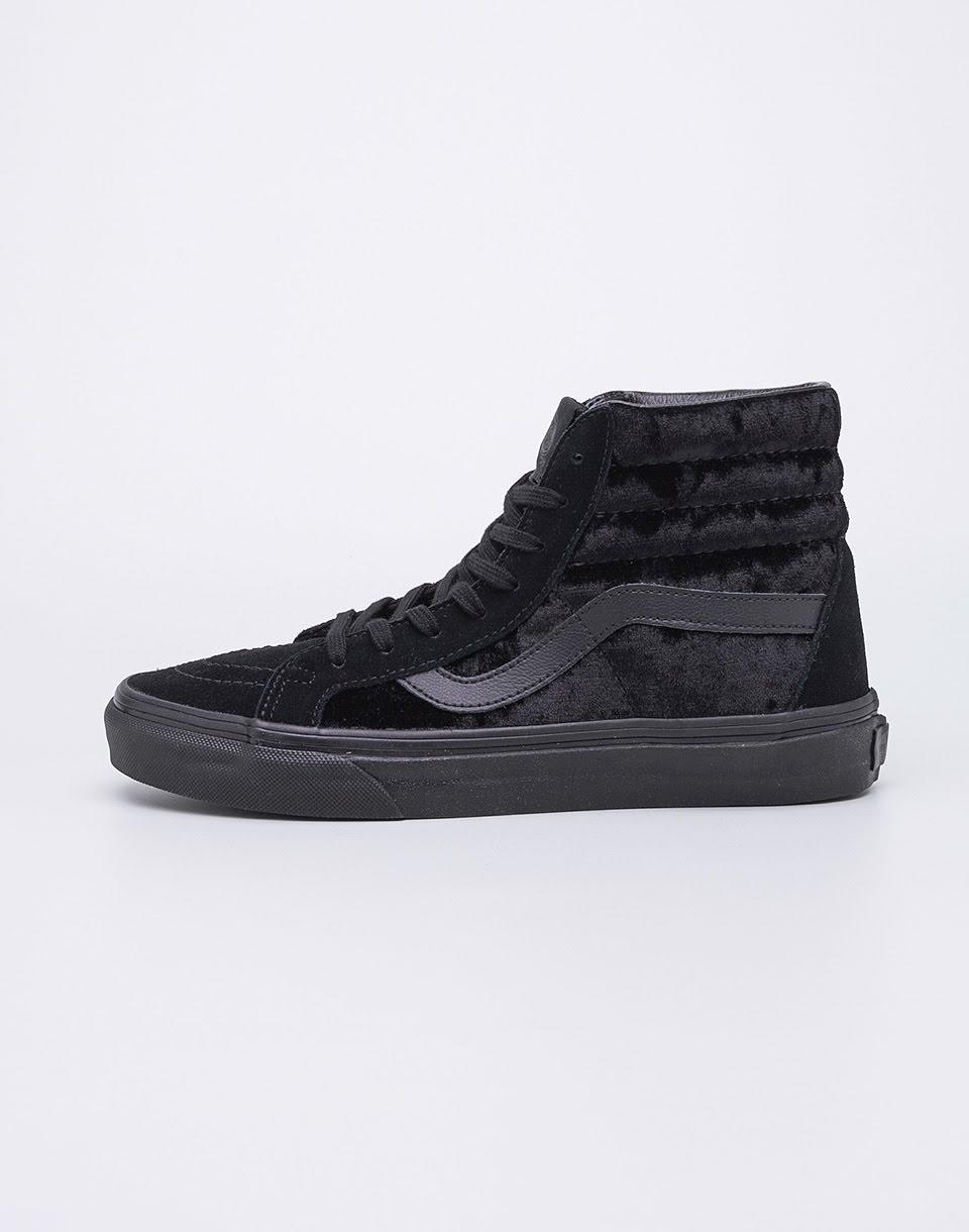 Sneakers - tenisky Vans SK8-Hi Reissue (Velvet) Black/Black 37
