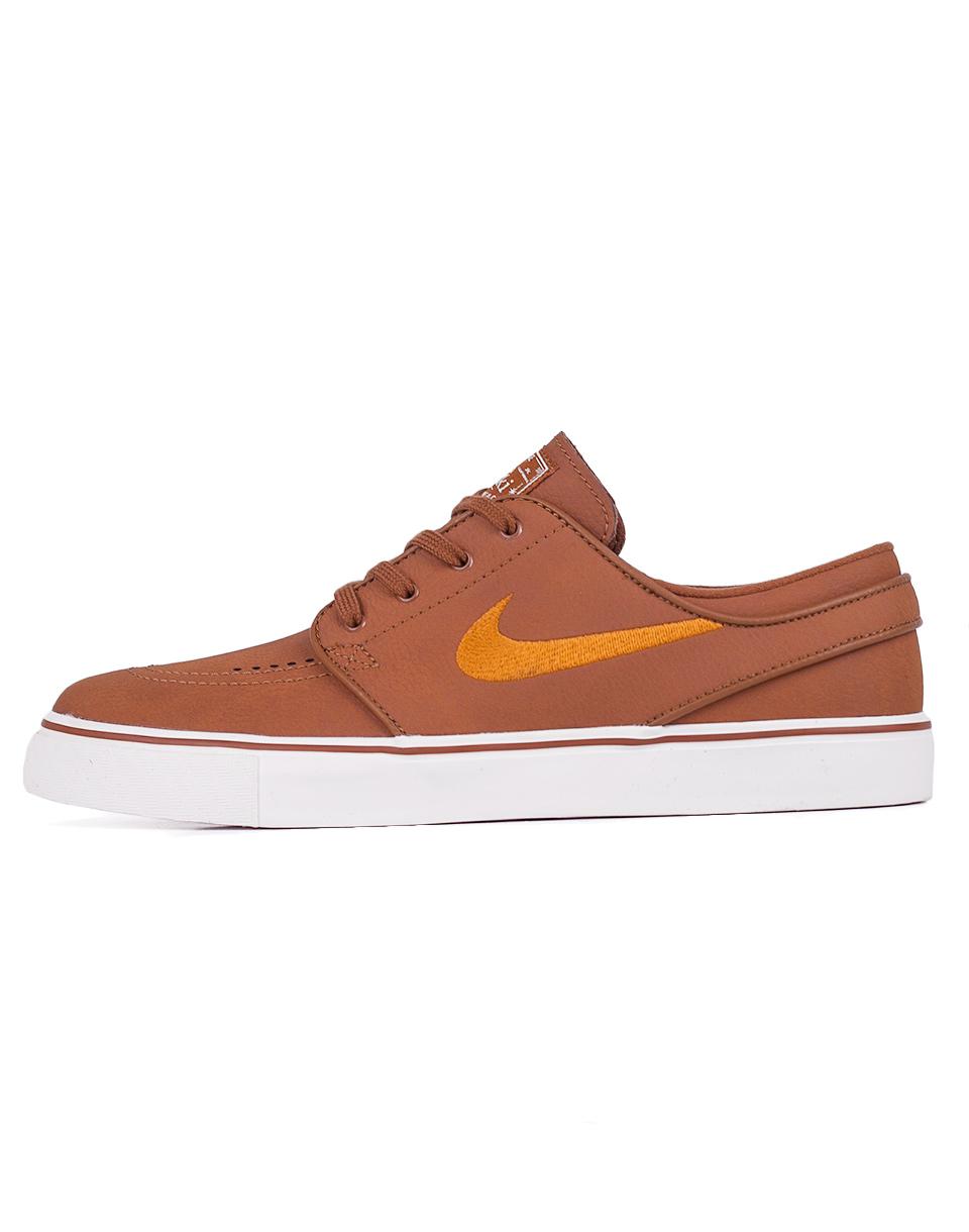 Sneakers - tenisky Nike SB Zoom Stefan Janoski Leather Ale Brown / Desert Ochre - Sail 42
