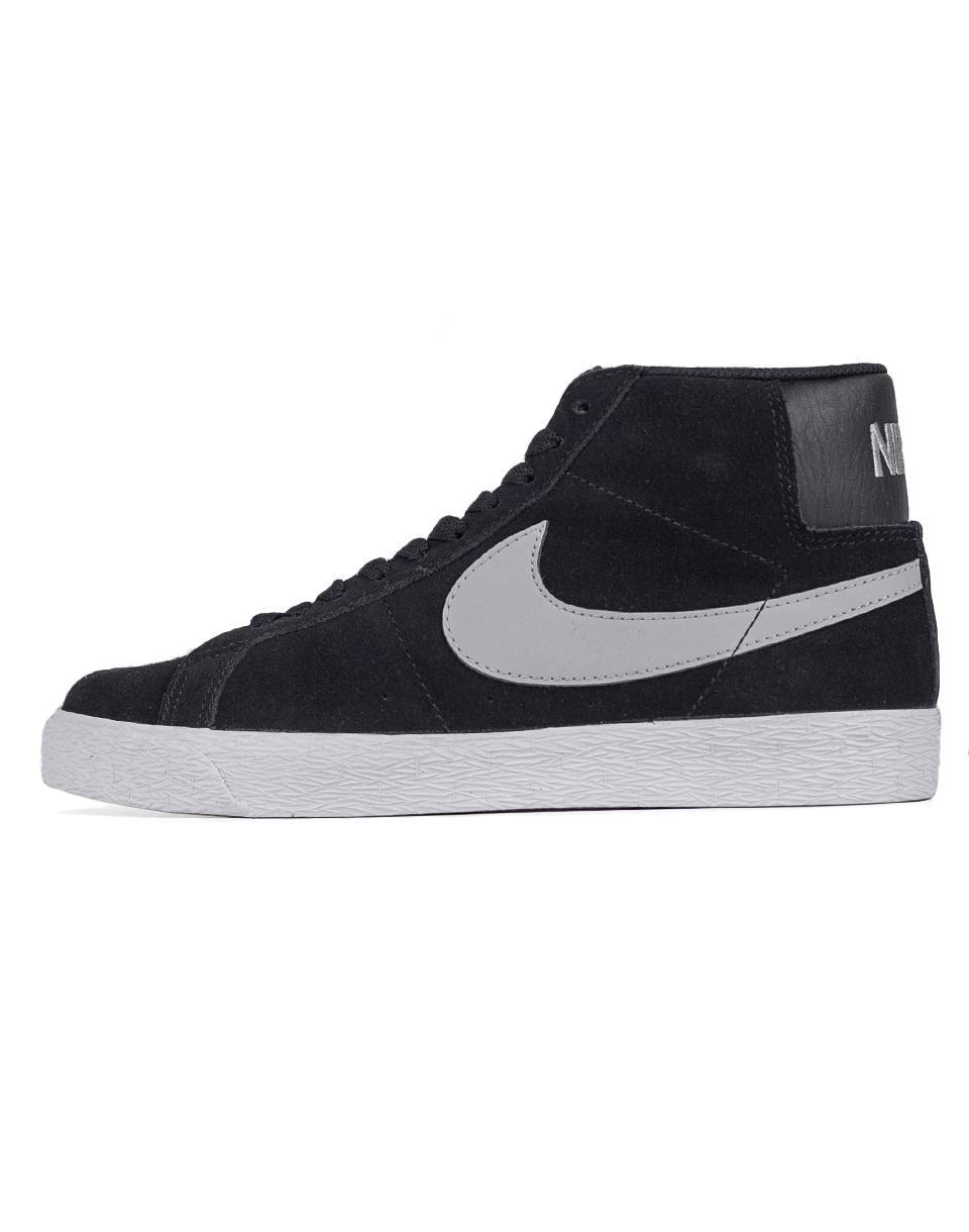 Sneakers - tenisky Nike SB Blazer Premium SE Black / Base Grey - White 41