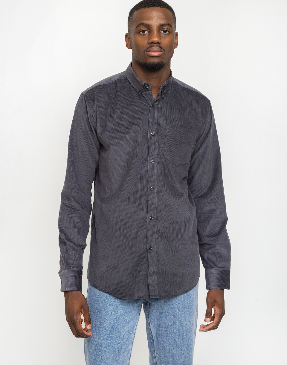 By Garment Makers The Organic Corduroy Shirt 2321 Dark Grey M