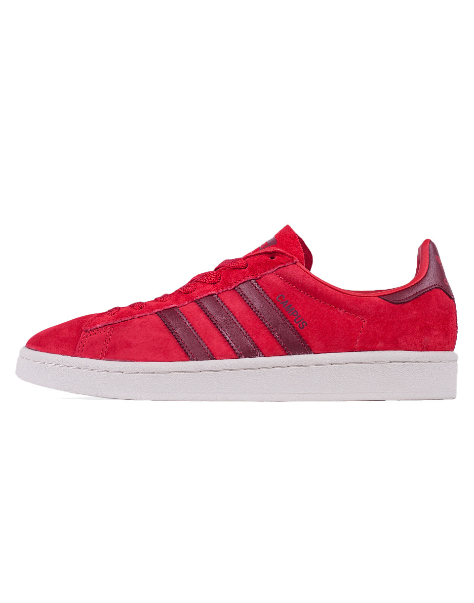 Adidas Originals Campus Scarlet   Collegiate Burgundy   Chalk White 42