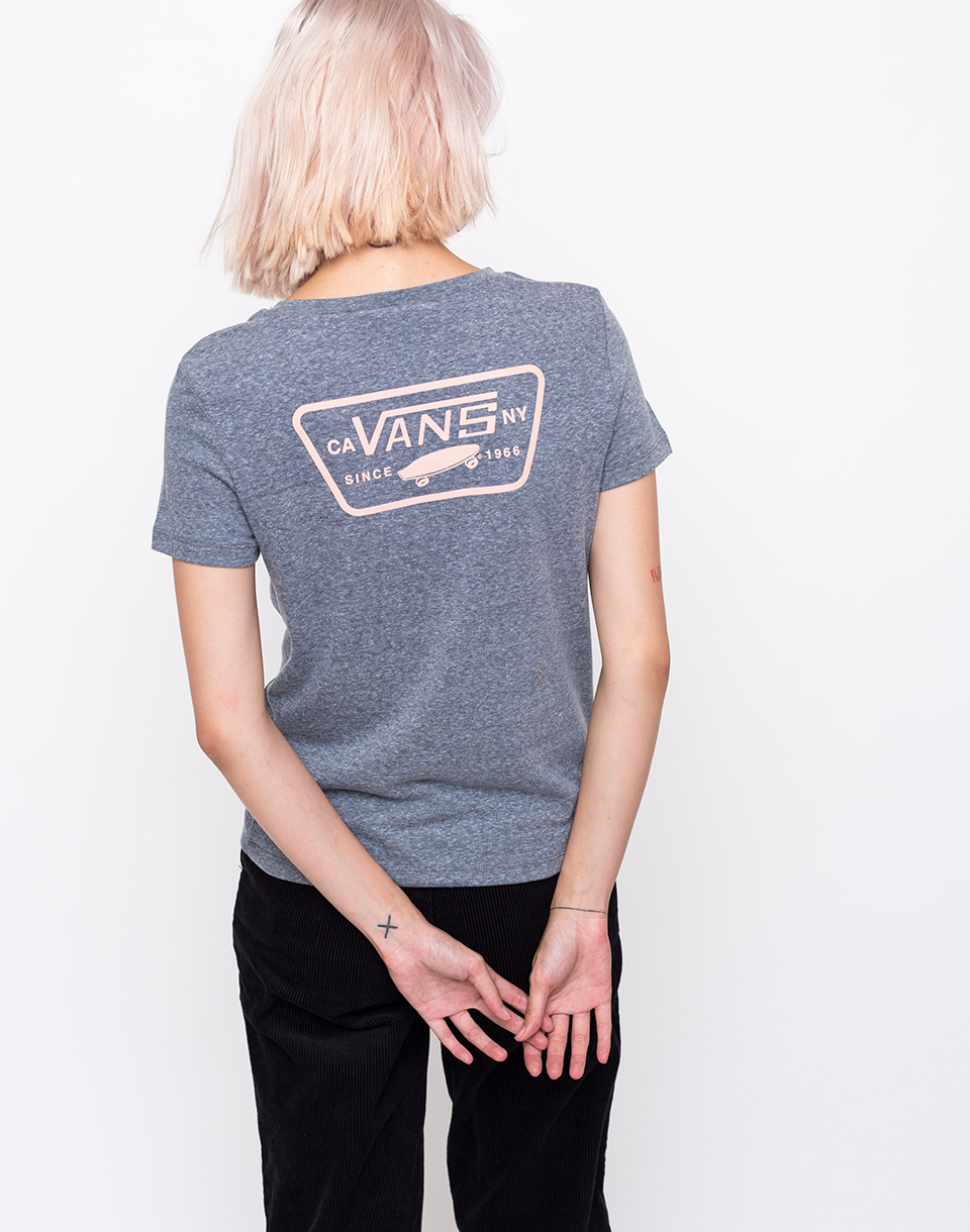 Vans Full Patch Crew Grey Heather   Rose Cloud XS