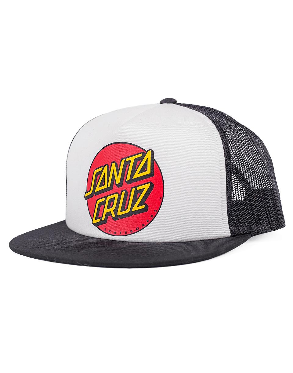 Kšiltovka Santa Cruz Classic Dot White / Black