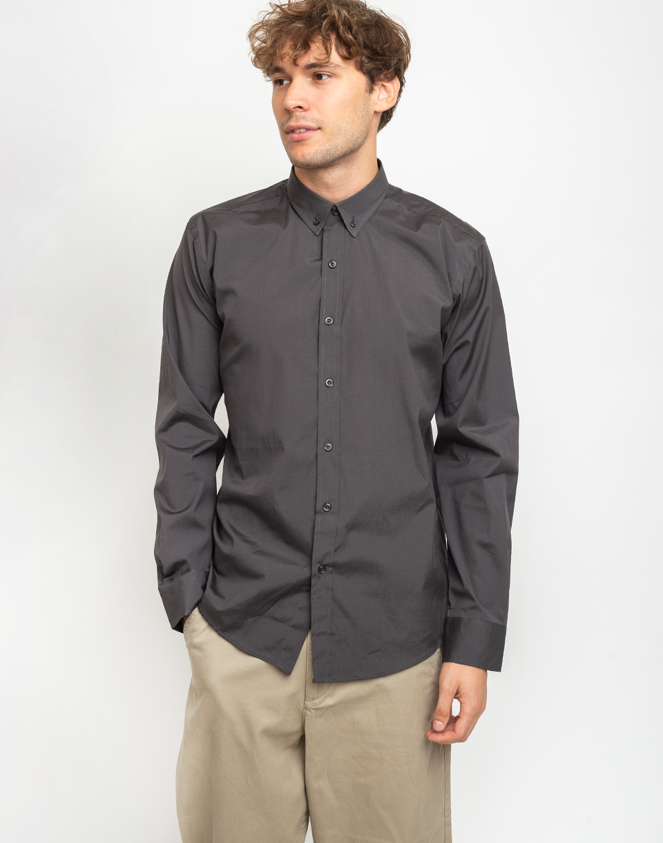 By Garment Makers The Organic Shirt 2321 Dark Grey L