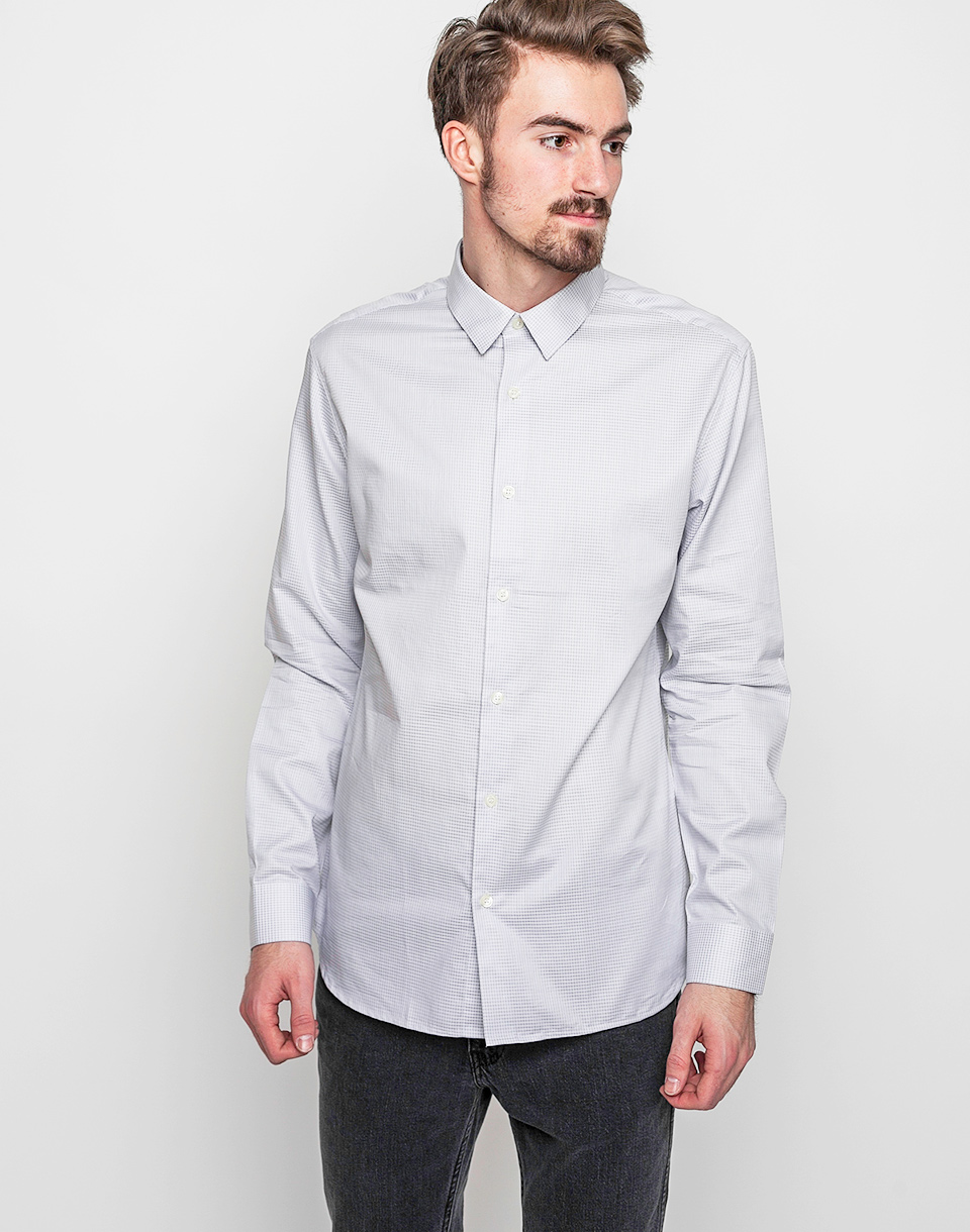 Selected Onerain Light Grey Check S