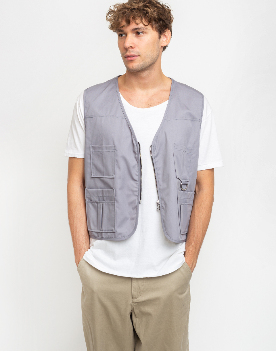 The Ragged Priest Utility Jacket Light Grey S