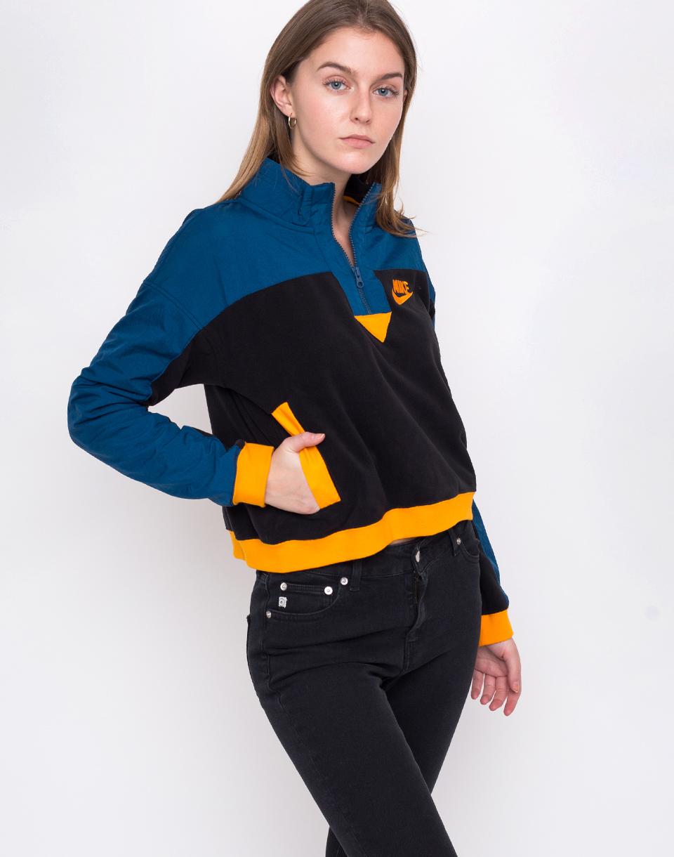Nike NSW Top HZ Polar Black / Blue Force / Orange Peel M