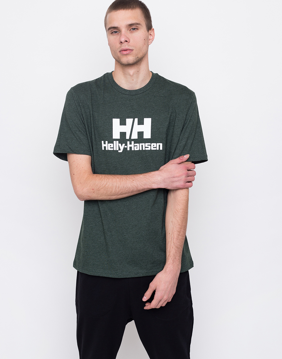 Helly Hansen Logo T shirt Mountain Green Melange L