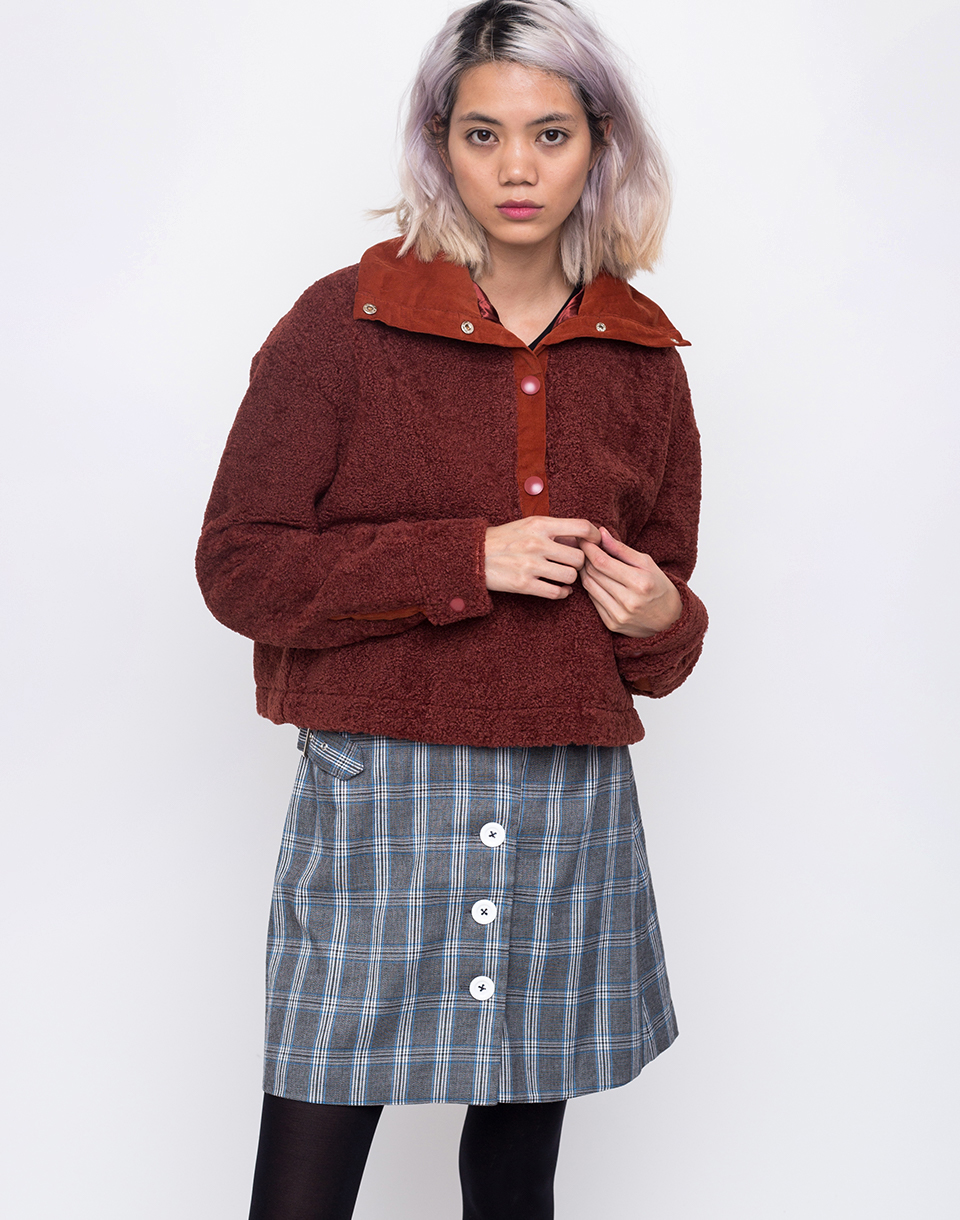 House of Sunny Teddy Pullover Reddish Brown 34