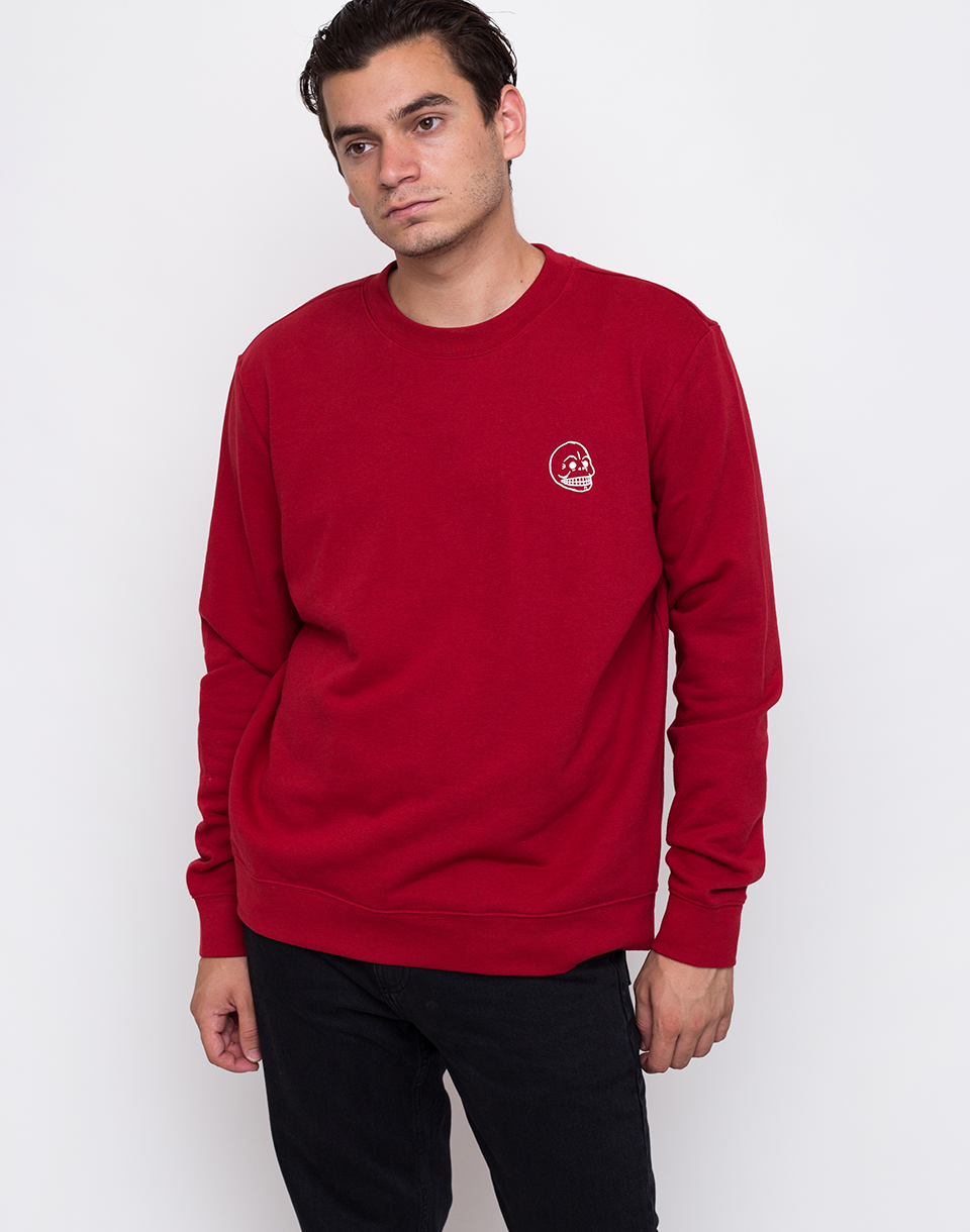 Cheap Monday Worth Sweat Tiny Skull Brilliant Red L