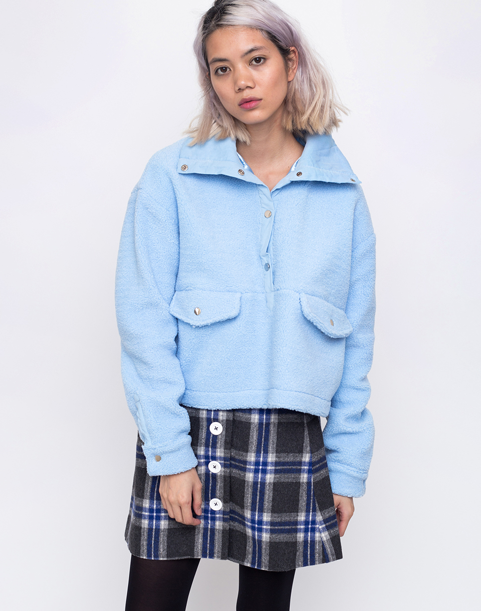 House of Sunny Teddy Pullover Muted Blue 34