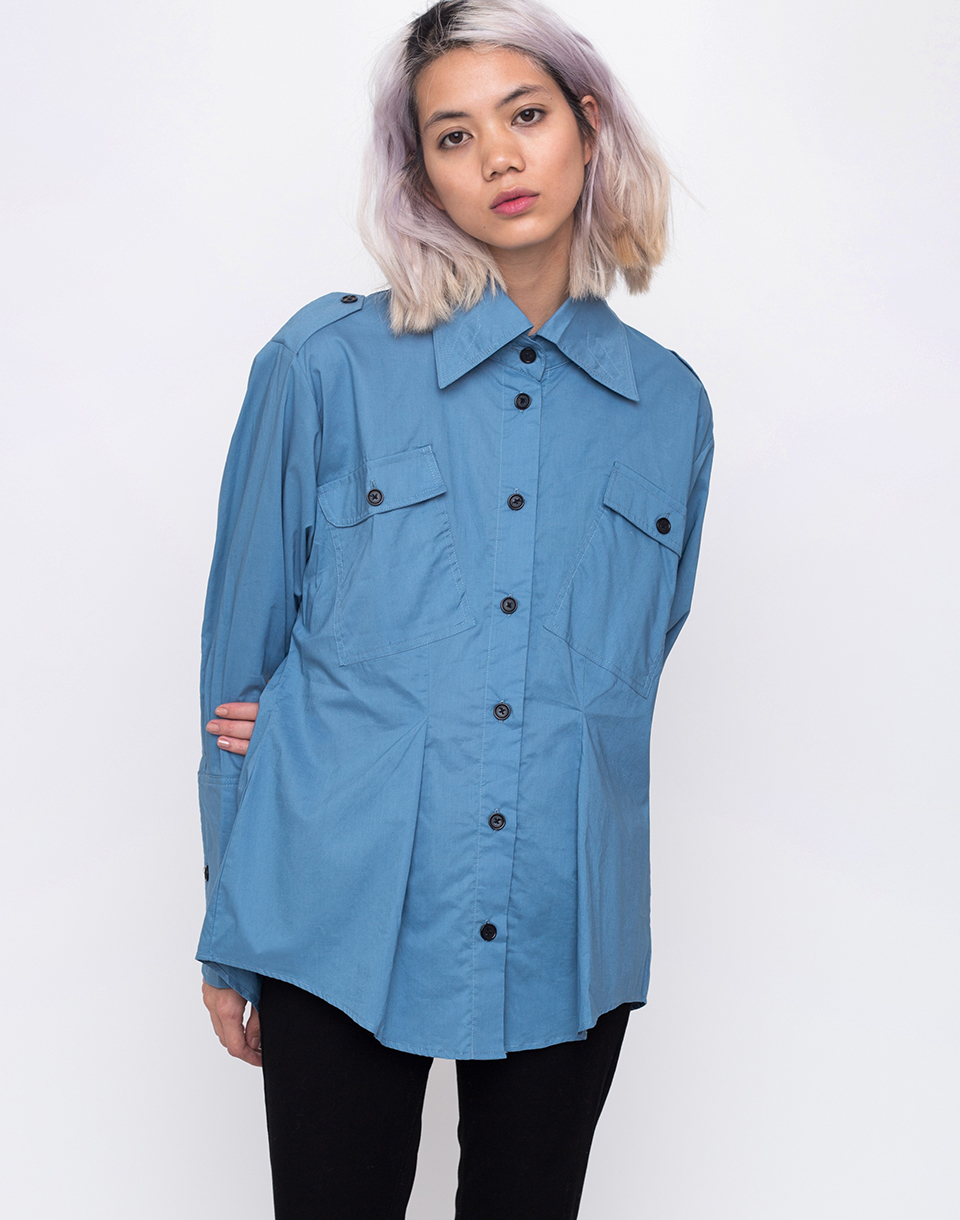 House of Sunny Outlaw Shirt Authentic Blue 34