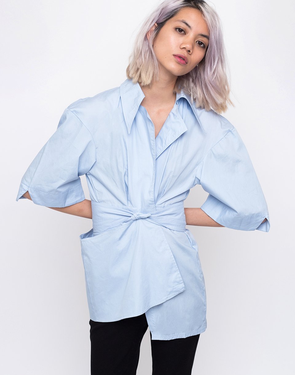 House of Sunny The Thinker Shirt Muted Blue 34