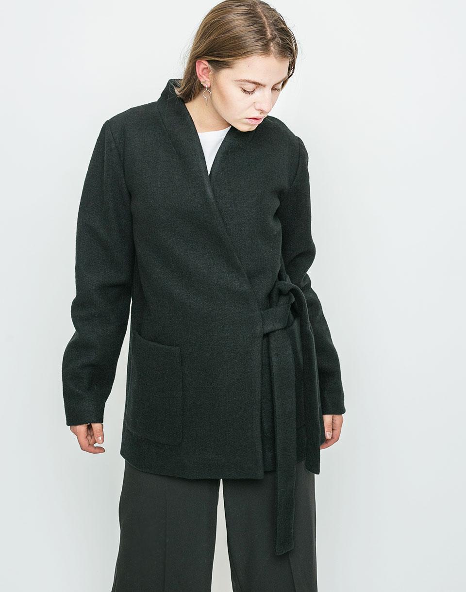 Kabát Ichi Tuzo Black L + doprava zdarma + novinka