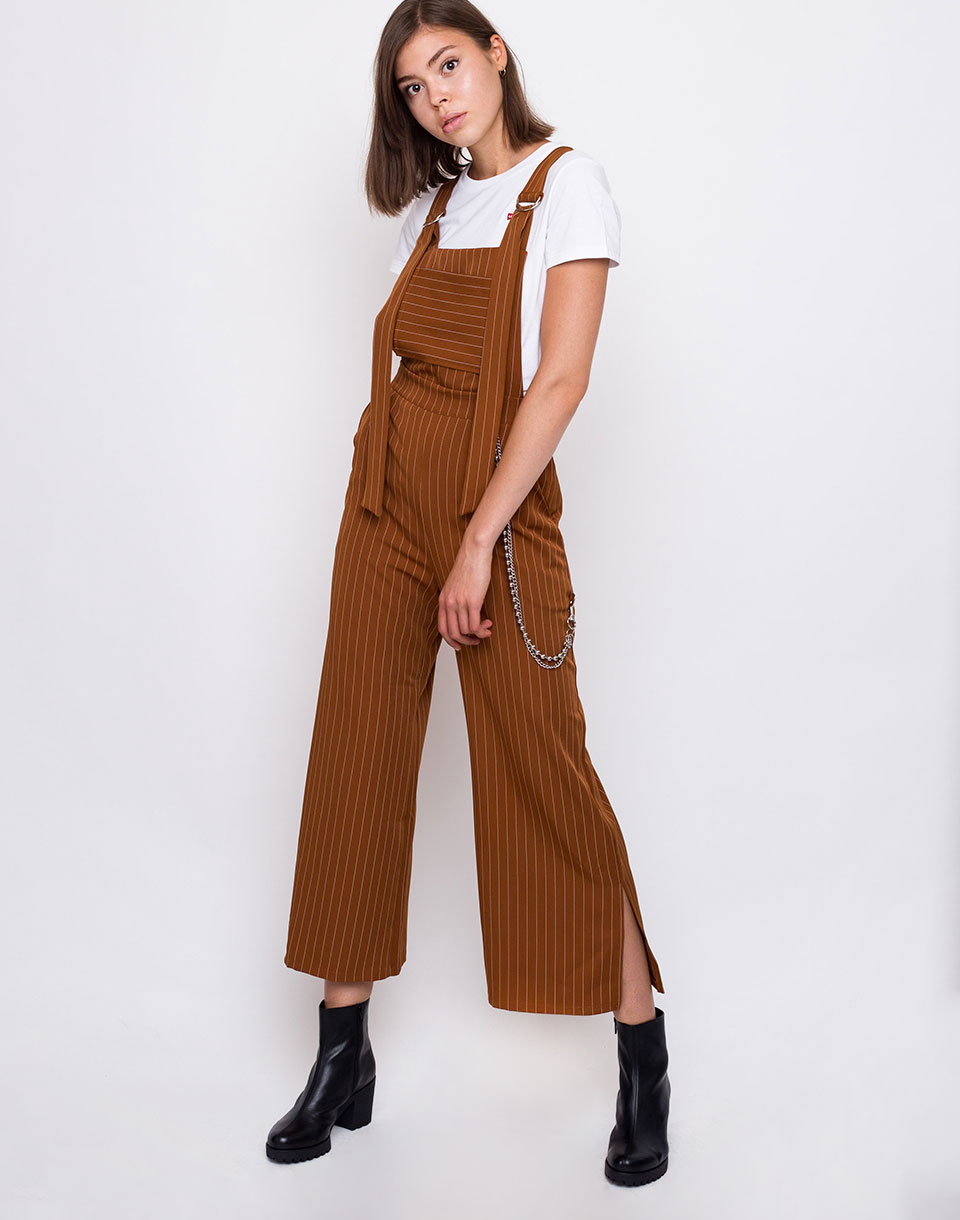 The Ragged Priest Strip Dungaree Tan   Pinstripe L