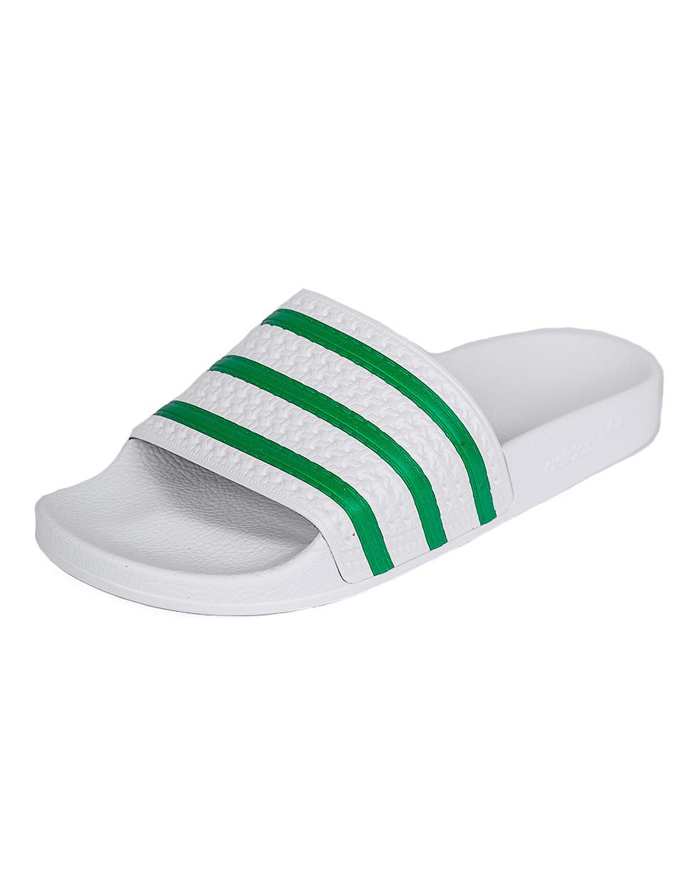 Pantofle Adidas Originals ADILETTE FTWWHT/GREEN/FTWWHT 40,5