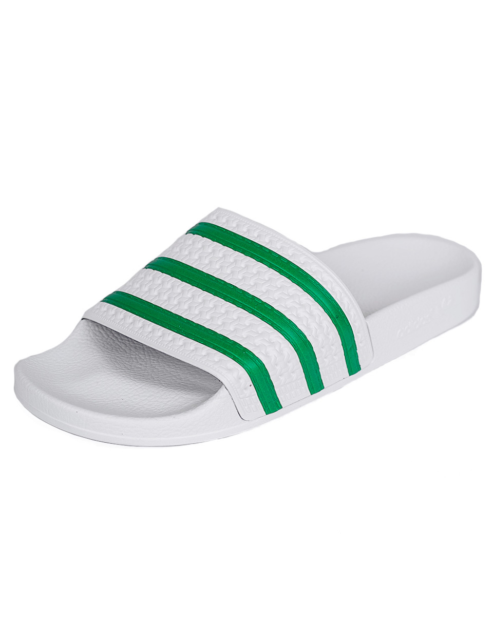 Pantofle Adidas Originals ADILETTE FTWWHT/GREEN/FTWWHT 43